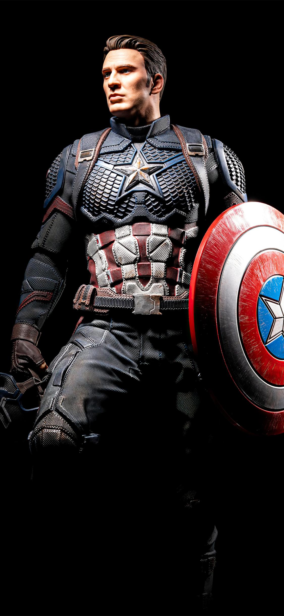 1125x2436 Captain America Portrait Art Iphone XS,Iphone 10 ...
