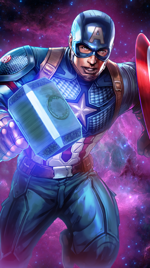 480x854 Captain America Shield And Hammer Android One ...