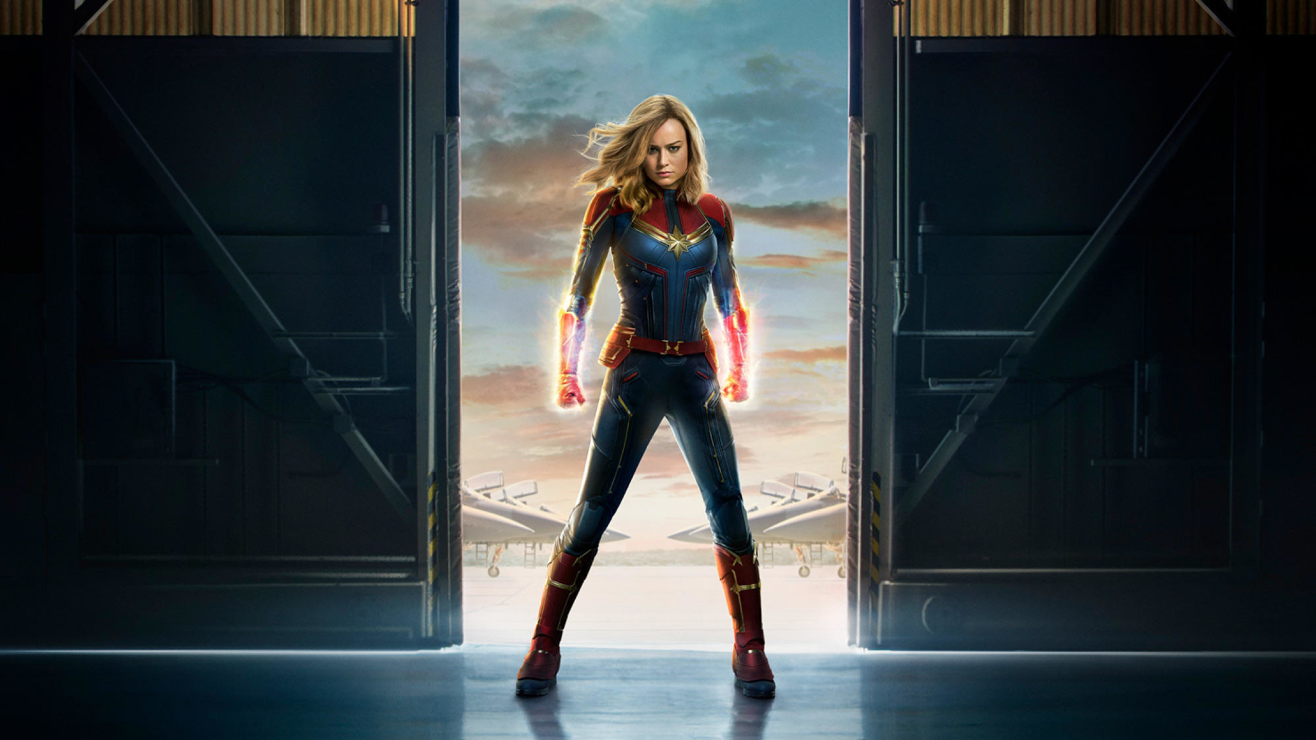 Movie Poster 2019: Captain Marvel 2019 Movie Official Poster, Full HD 2K