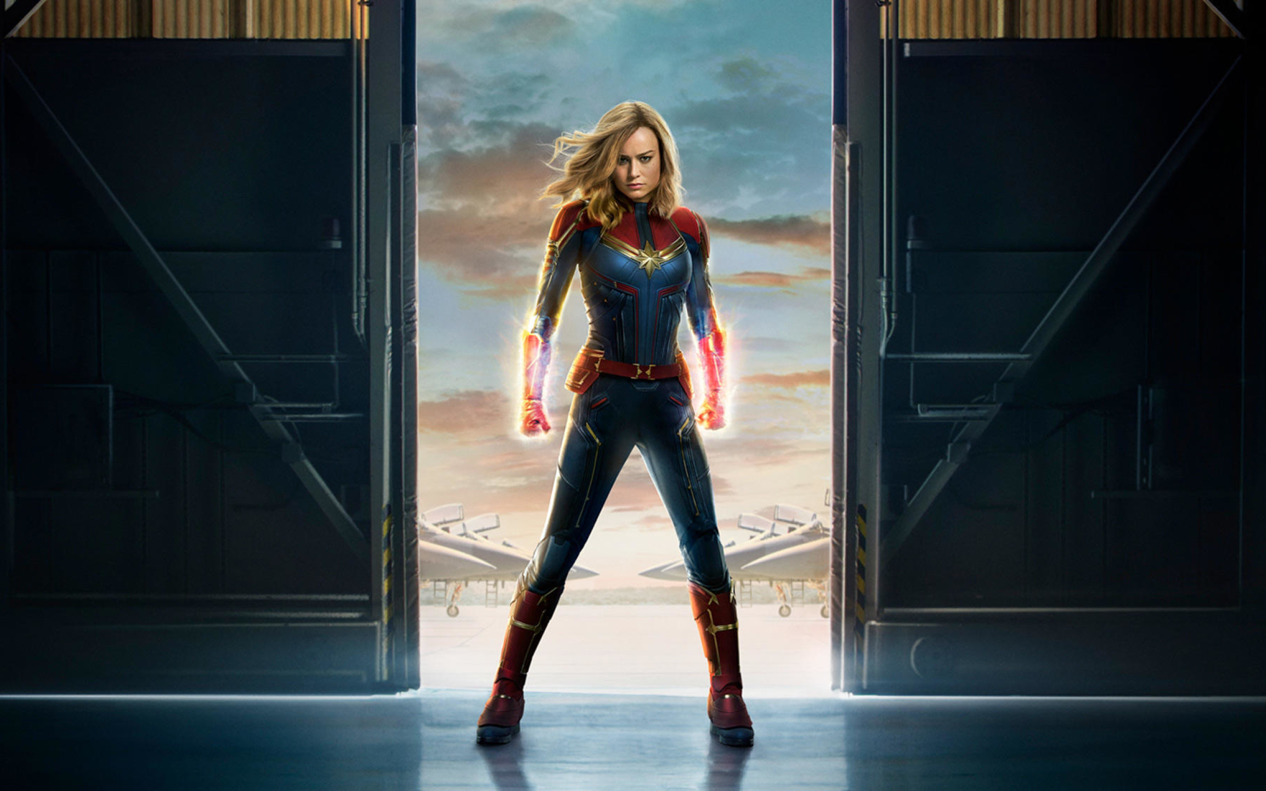 Movie Poster 2019: Captain Marvel 2019 Movie Official Poster, Full HD 2K