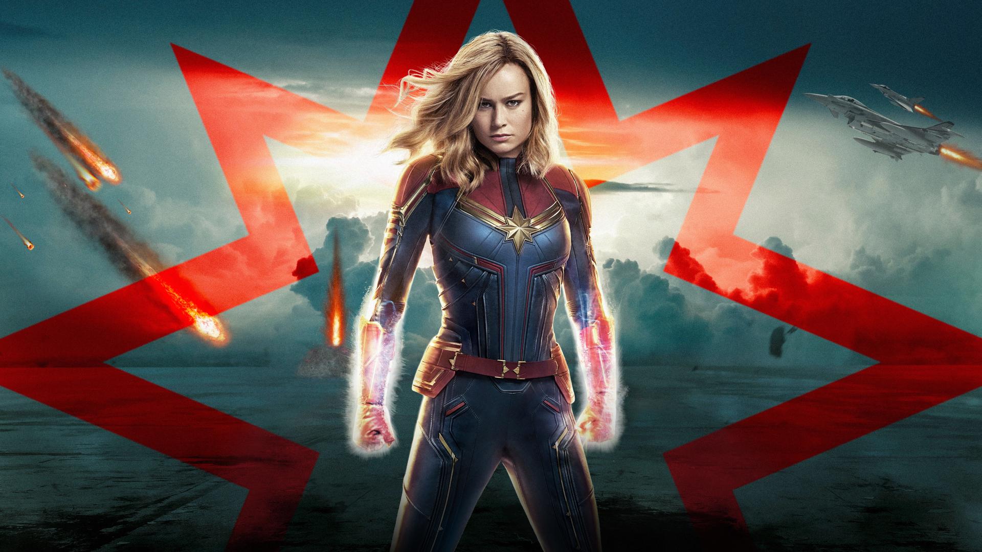 1080p Captain Marvel Hd Wallpaper