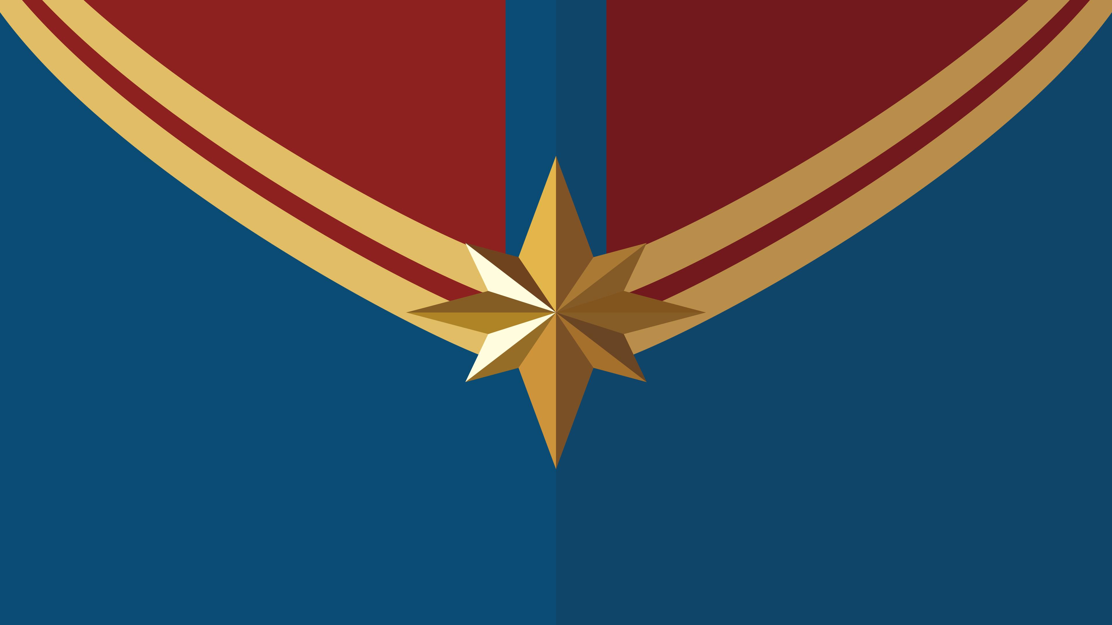 Captain Marvel Logo Wallpaper