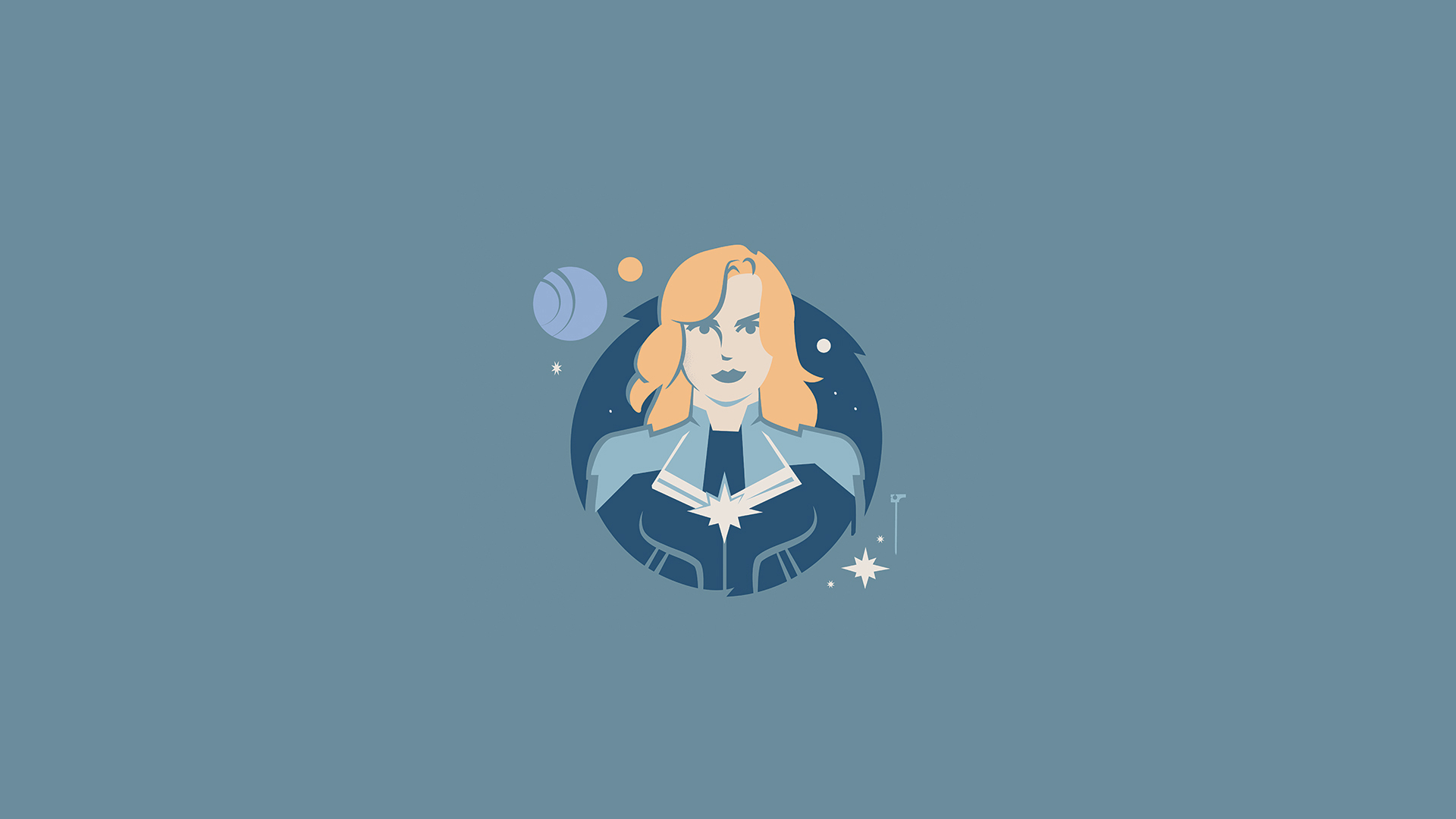 Captain Marvel Minimalist Artwork Wallpaper, HD Minimalist ...