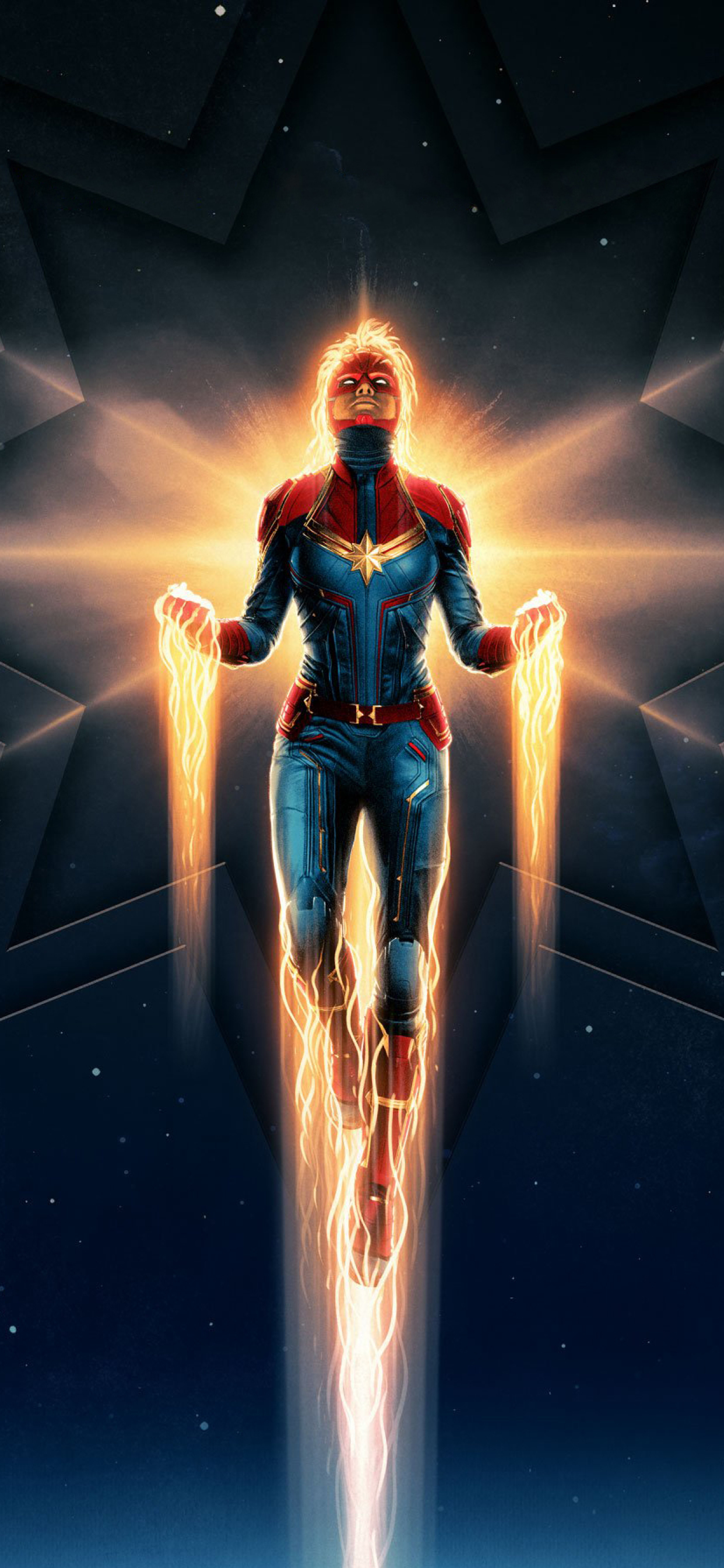 1242x2688 Captain Marvel Movie 2019 Iphone Xs Max Wallpaper