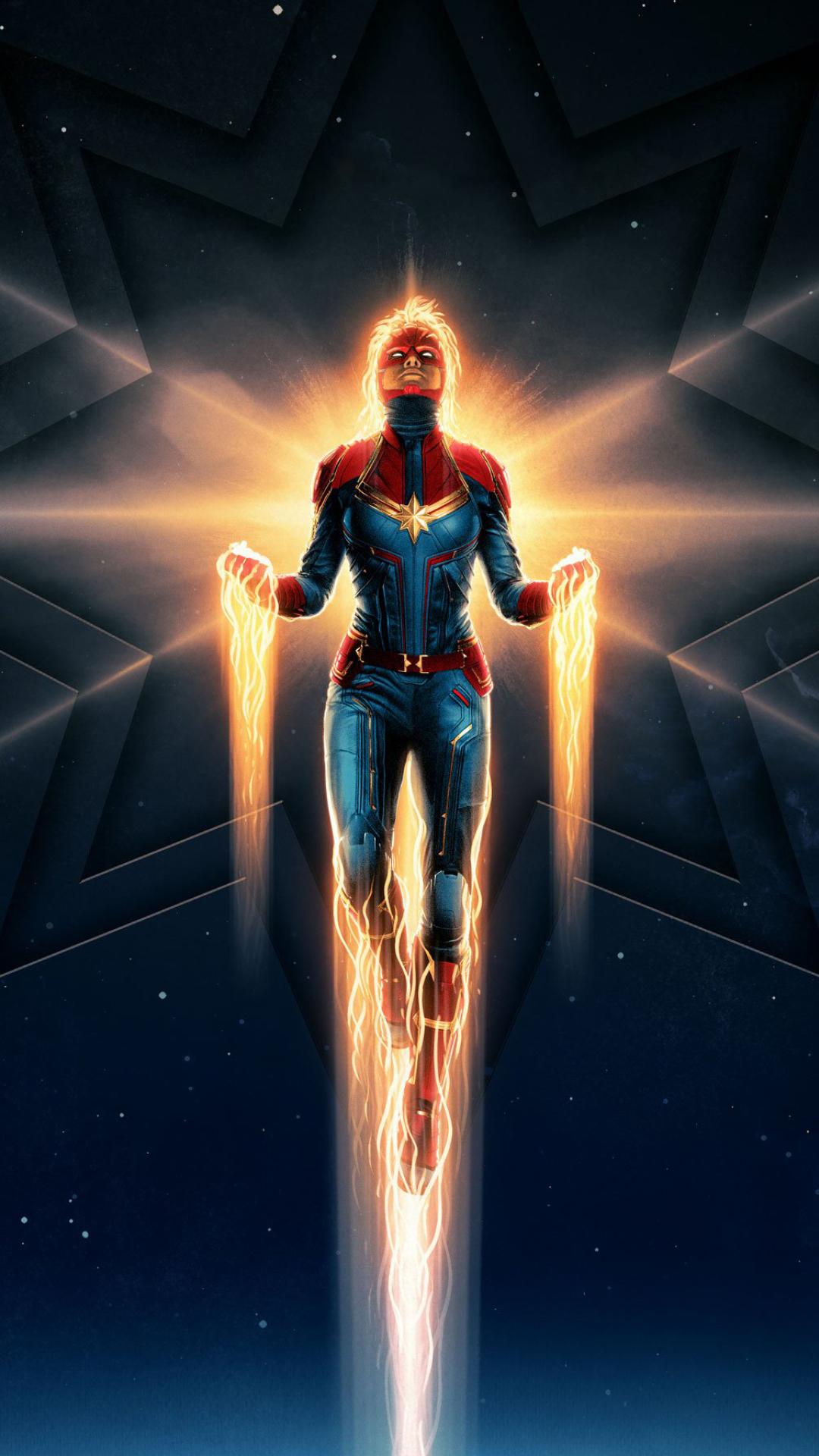 1080x1920 Captain Marvel Movie 2019 Iphone 7, 6s, 6 Plus ...
