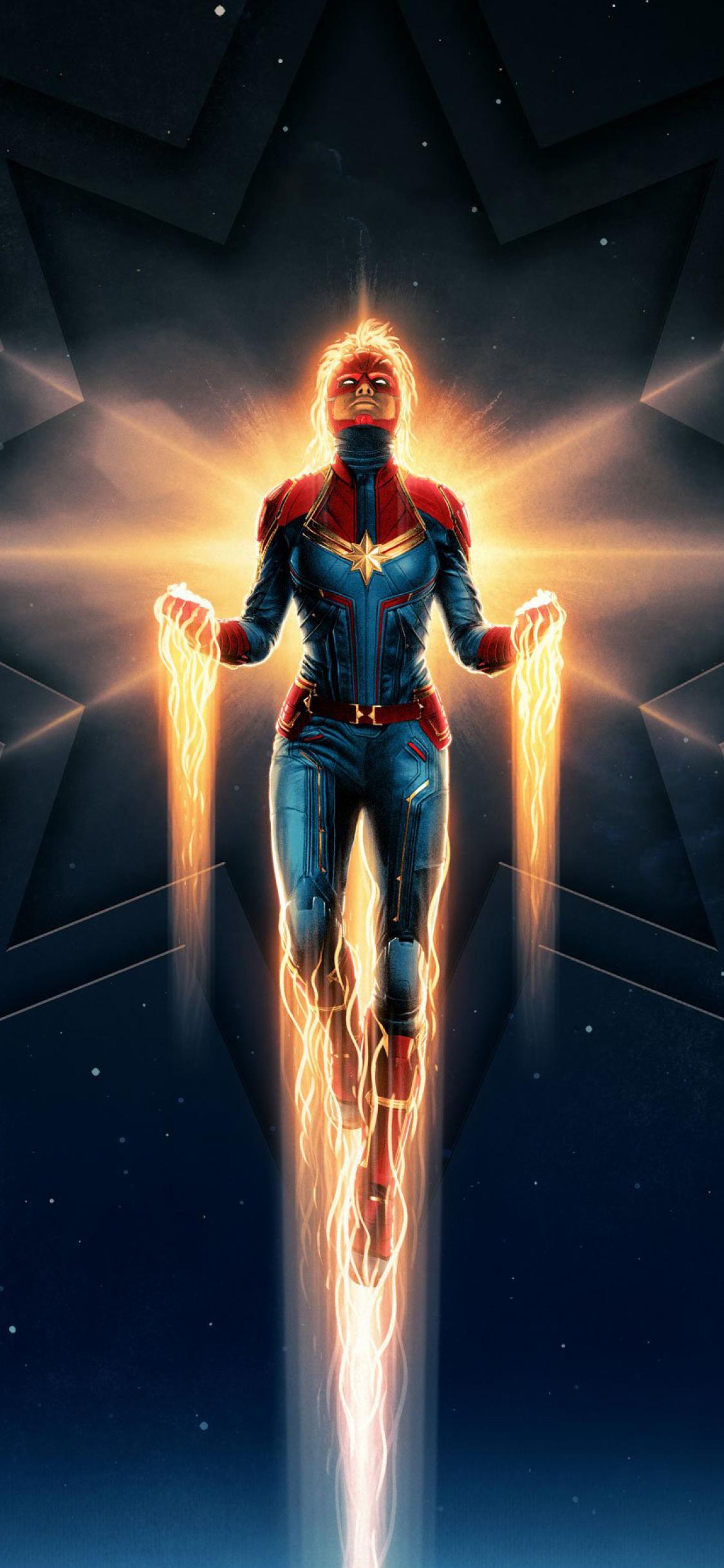 1125x2436 Captain Marvel Movie 2019 Iphone Xs Iphone 10