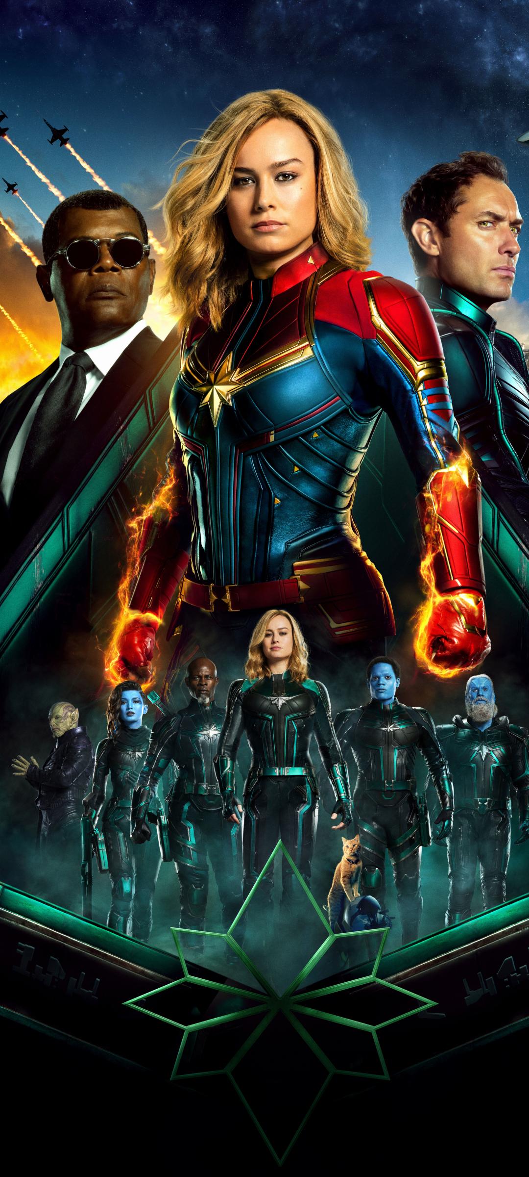 1080x2400 Captain Marvel Movie All Superheroes 1080x2400 ...