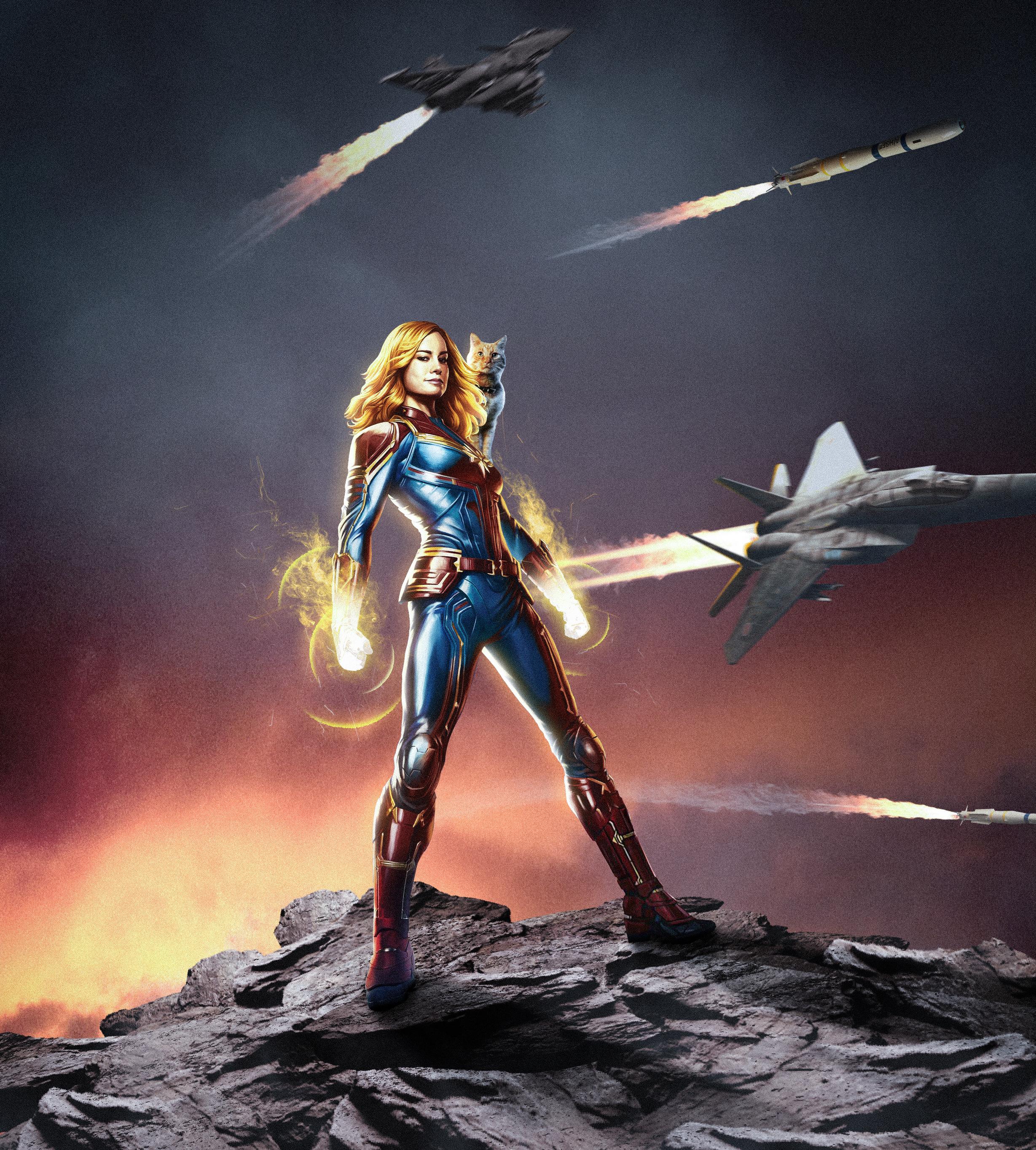 Captain Marvel Movie Poster Art Wallpaper, HD Movies 4K
