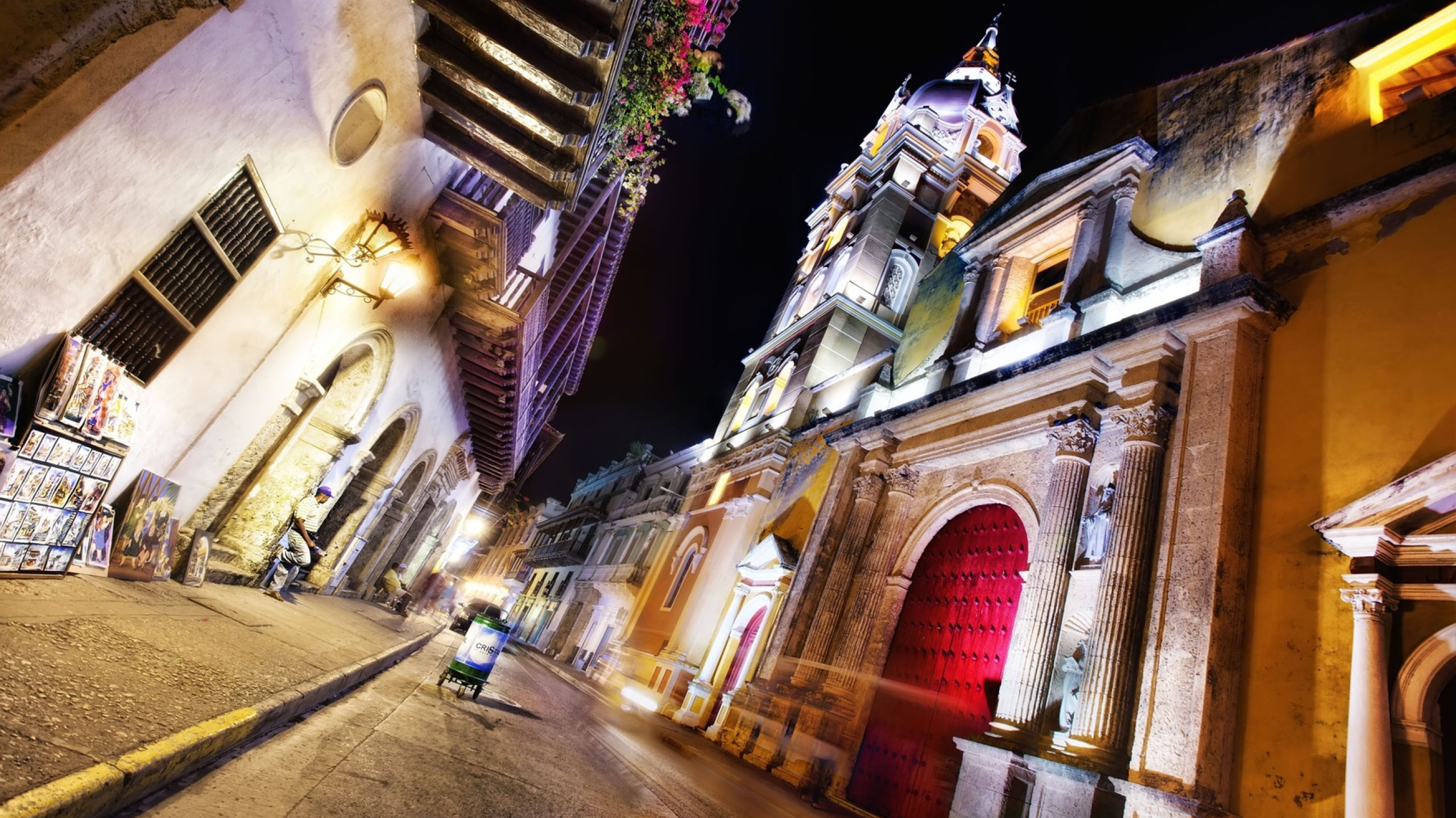 2560x1440 Cartagena Colombia Night 1440p Resolution Wallpaper Hd City 4k Wallpapers Images Photos And Background