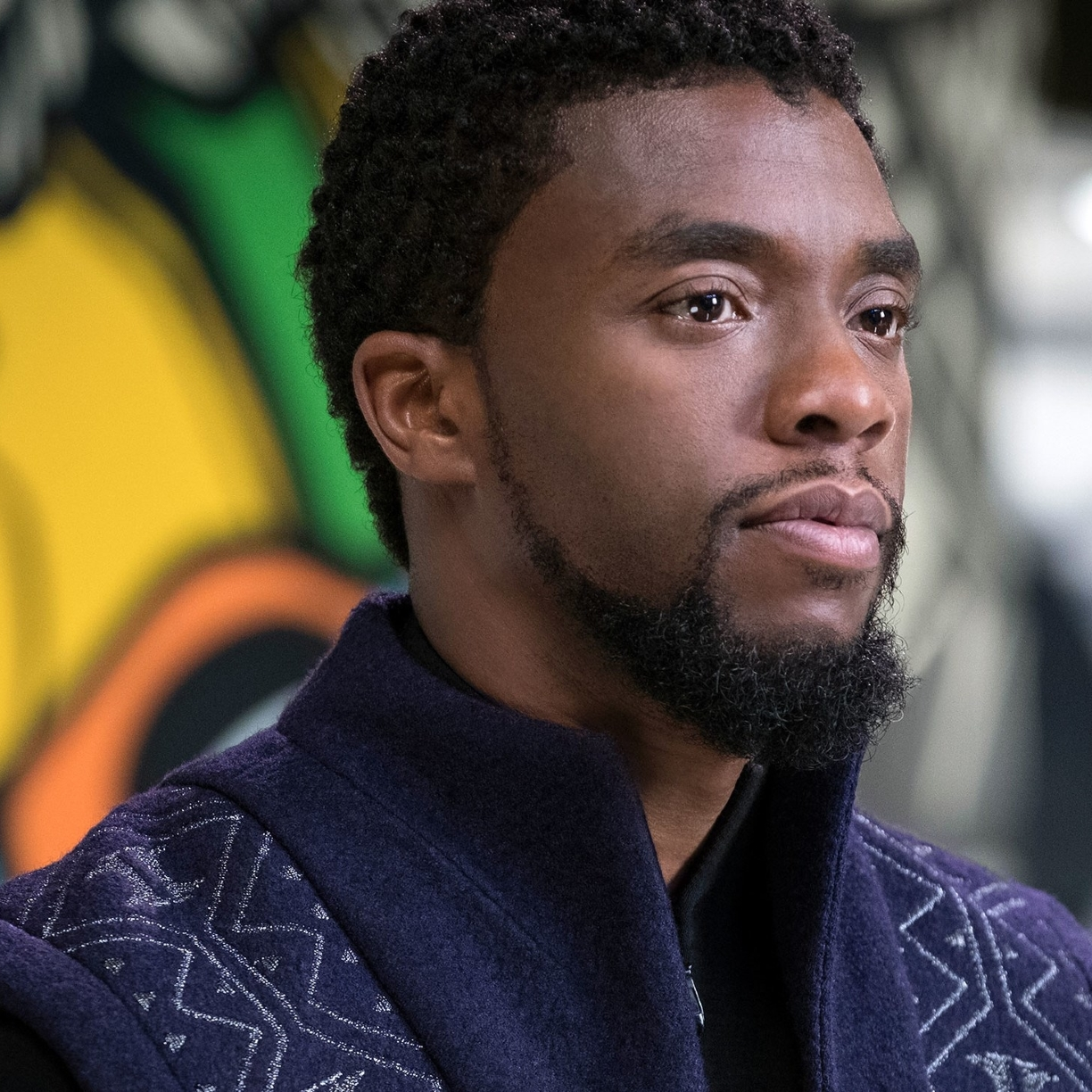 1224x1224 Chadwick Boseman Black Panther 1224x1224 Resolution Wallpaper Hd Movies 4k Wallpapers Images Photos And Background