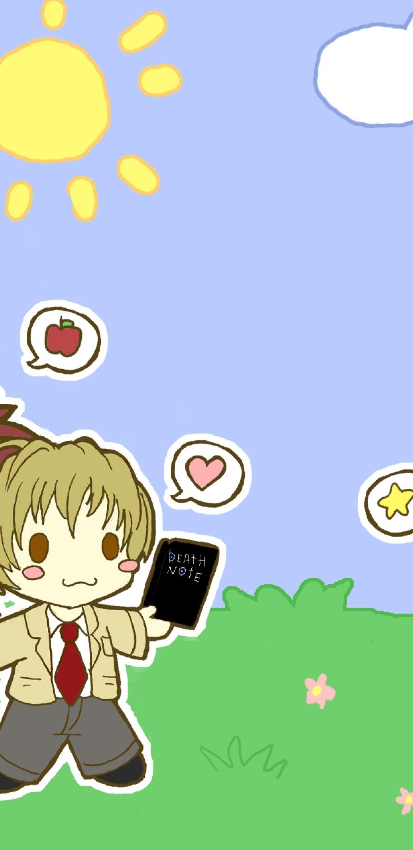 1440x2960 Chibi Death Note L Ryuk Yagami Samsung Galaxy Note 9 8