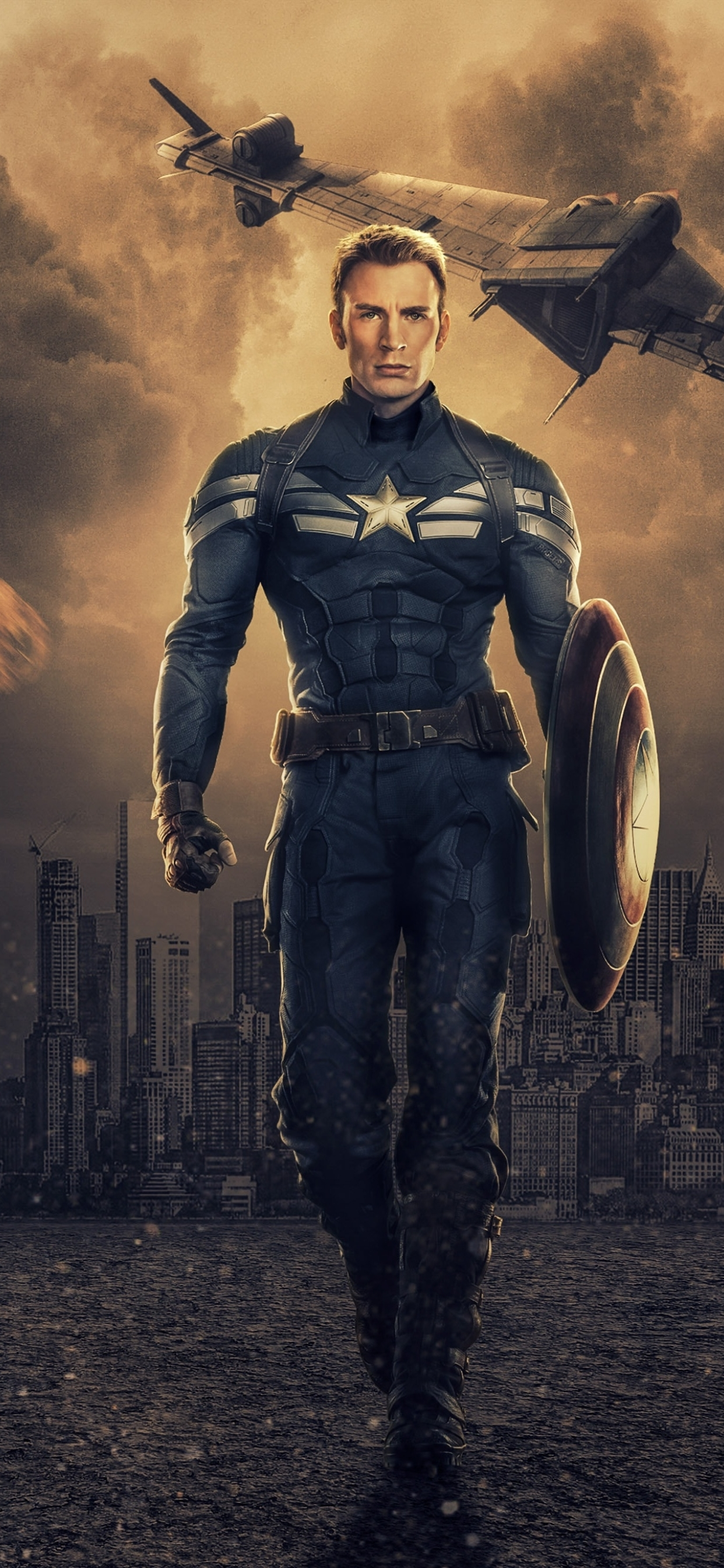 1242x2688 Chris Evans As Captain America Iphone Xs Max Wallpaper