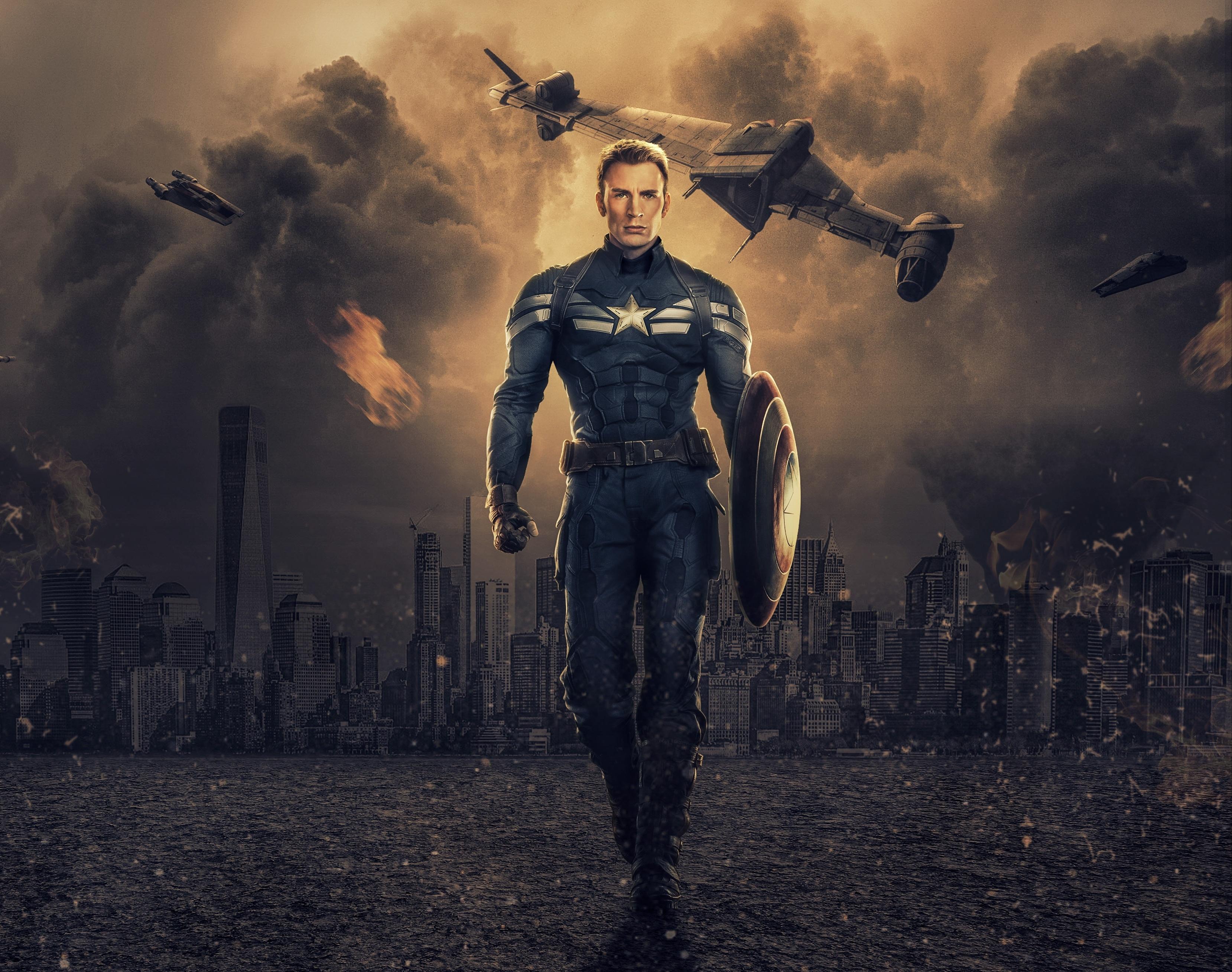 2932x2932 Chris Evans As Captain America Ipad Pro Retina