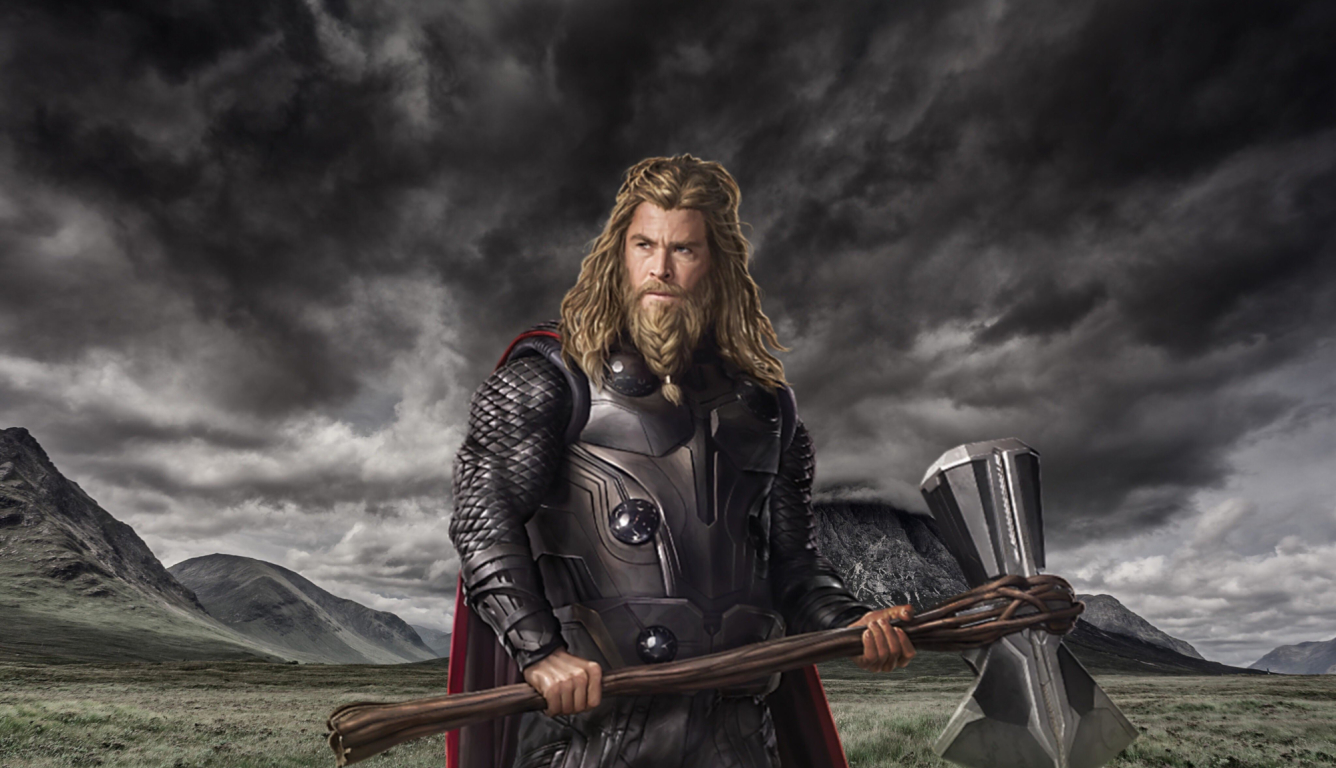 1336x768 Chris Hemsworth As Thor In Endgame HD Laptop ...