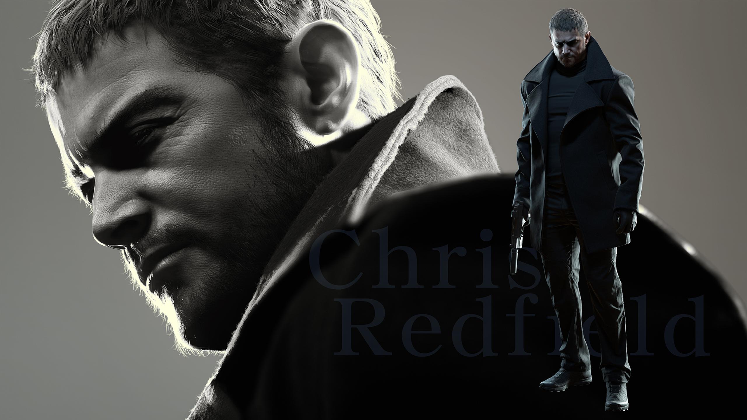 2560x1440 Chris Redfield Resident Evil 8 Village 1440P ...