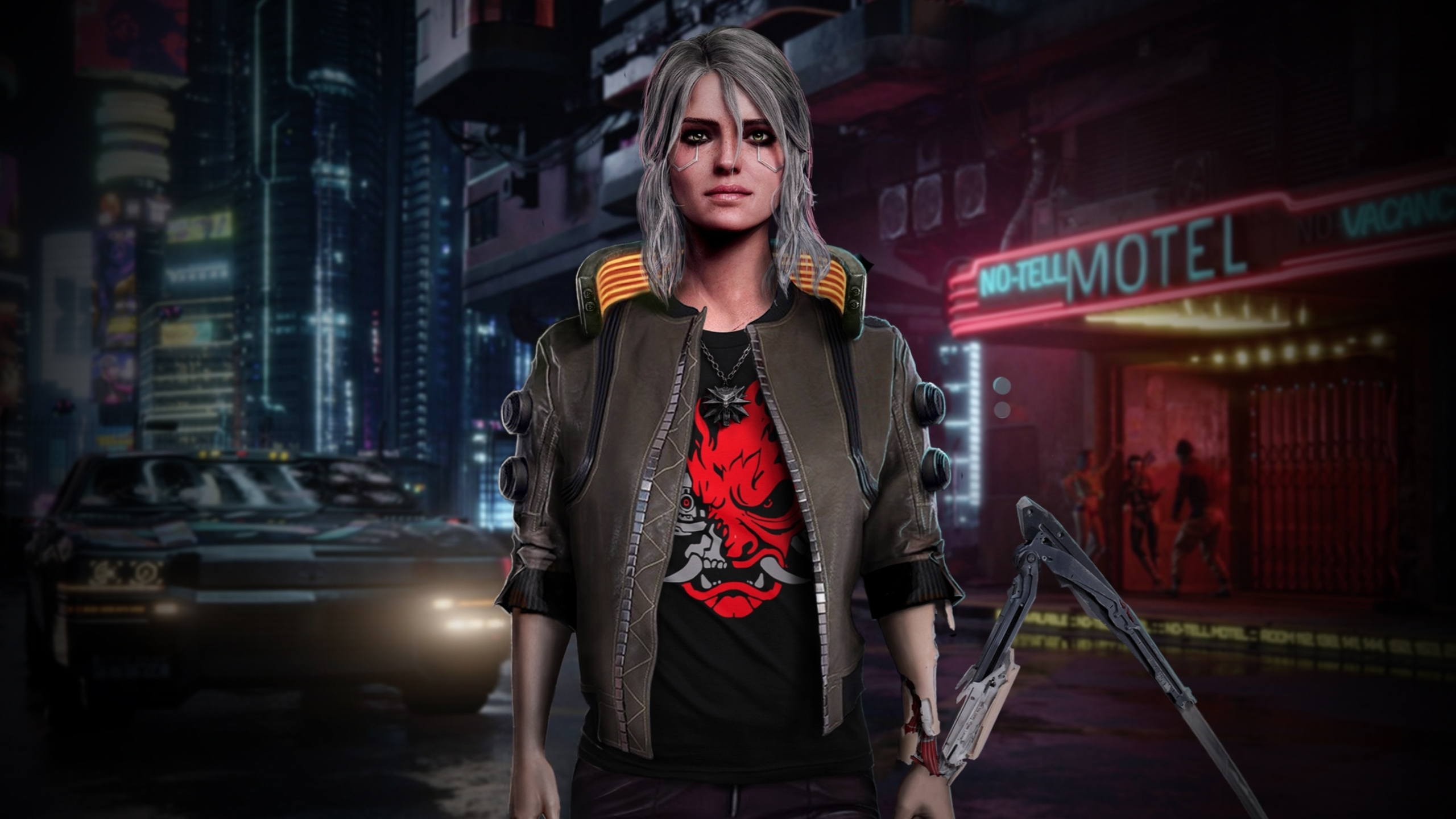 2560x1440 Ciri Witcher X Cyberpunk 2077 1440p Resolution Wallpaper Hd Games 4k Wallpapers Images Photos And Background