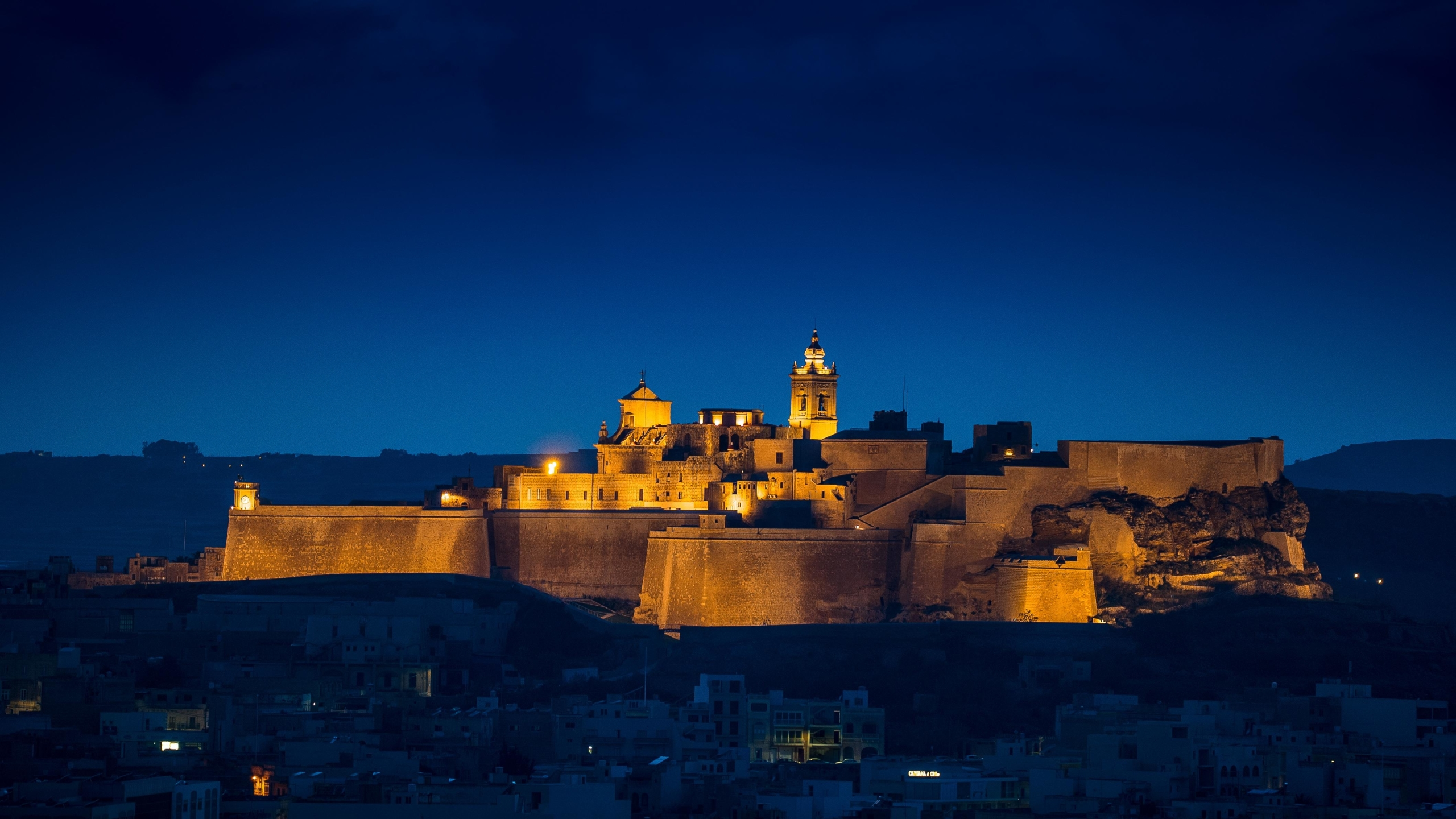 Citadel of Victoria the Island of Gozo 4K Wallpaper in 2560x1440 Resolution