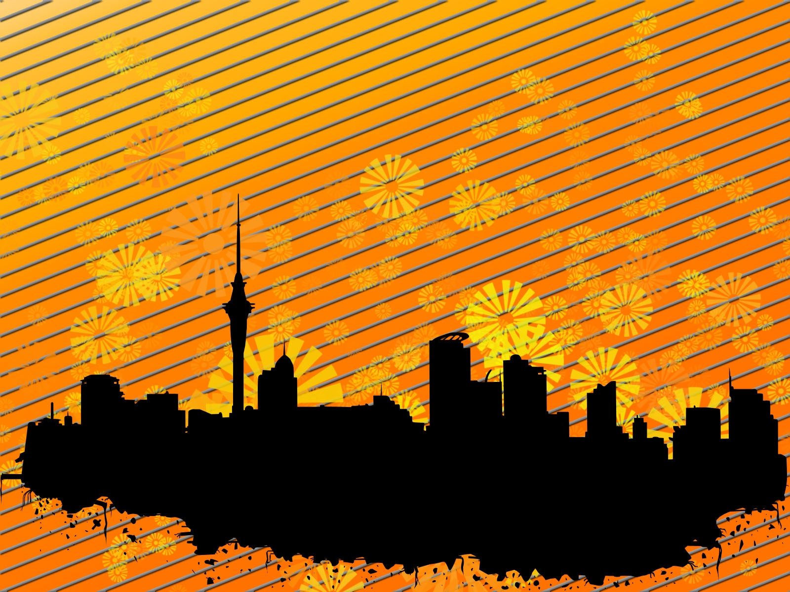 city, buildings, strip Wallpaper, HD Vector 4K Wallpapers ...