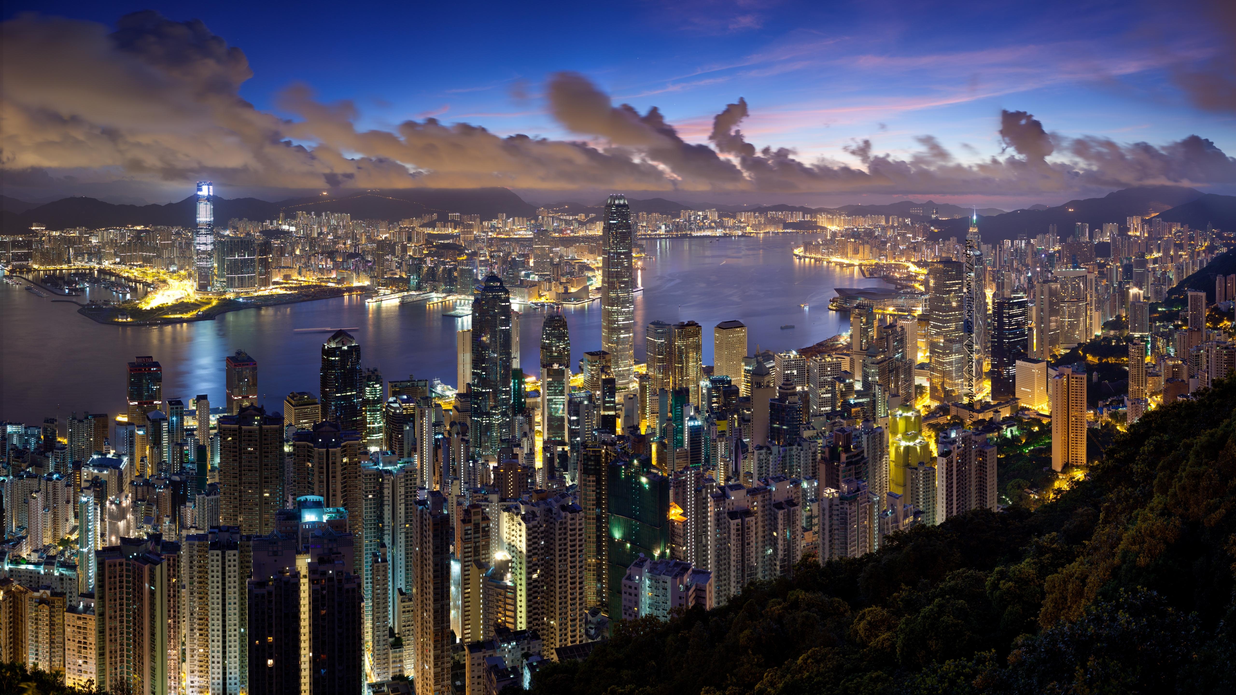 5120x2880 city, hong kong, night 5K Wallpaper, HD City 4K ...