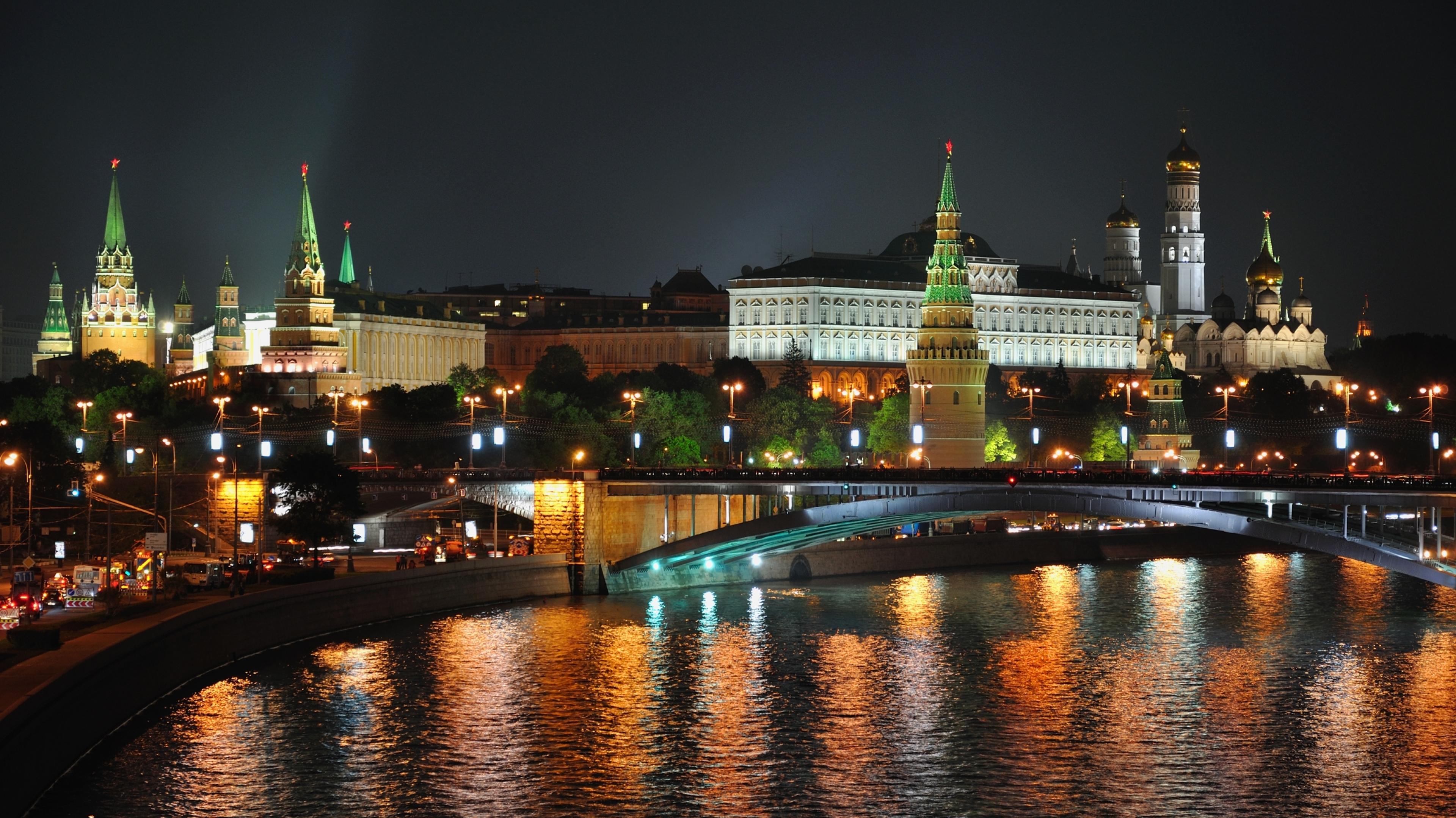 3840x2160 City Moscow Night 4k Wallpaper Hd City 4k