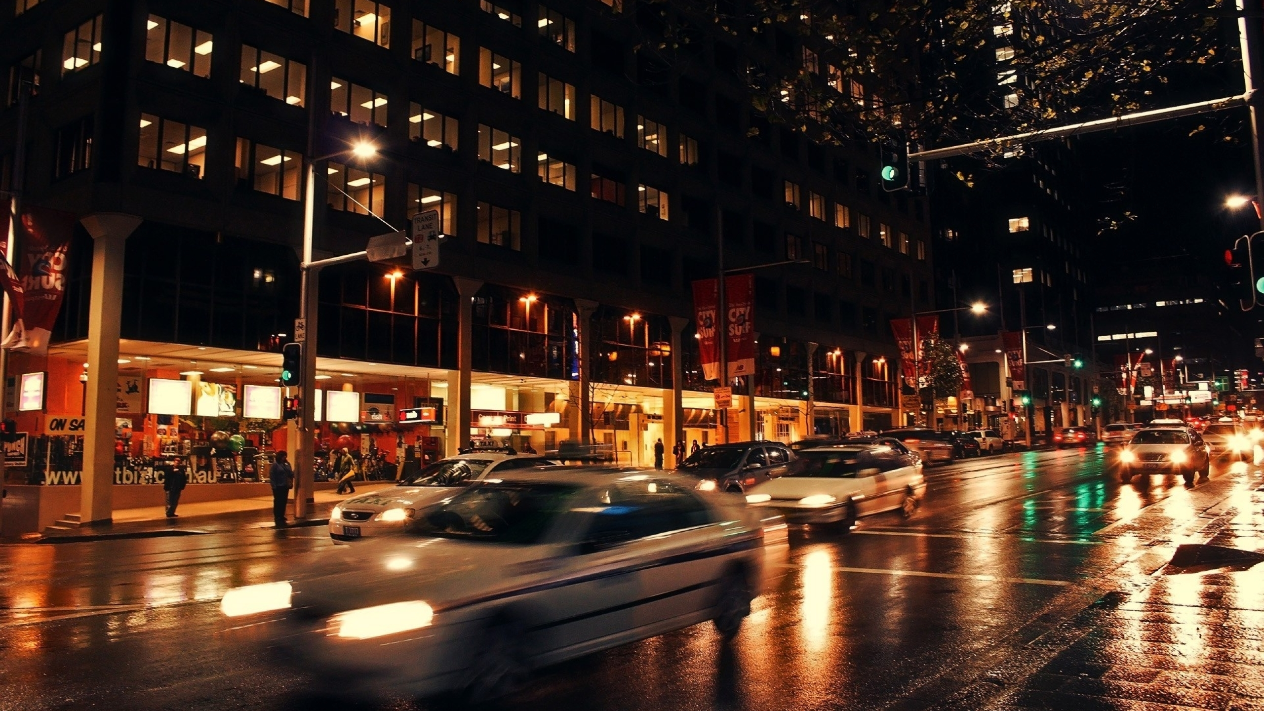 2560x1440 City Night Street 1440p Resolution Wallpaper Hd