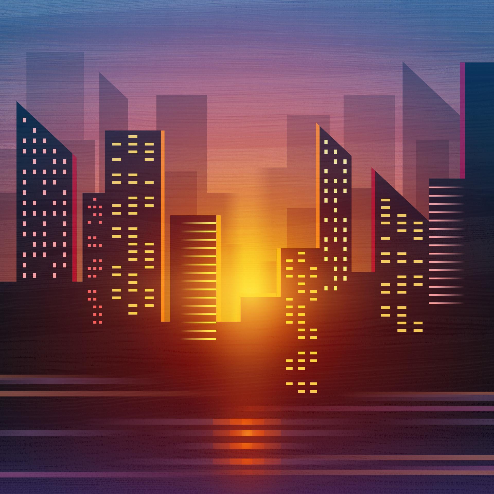 City Vector Illustration Art Wallpaper, HD Artist 4K ...