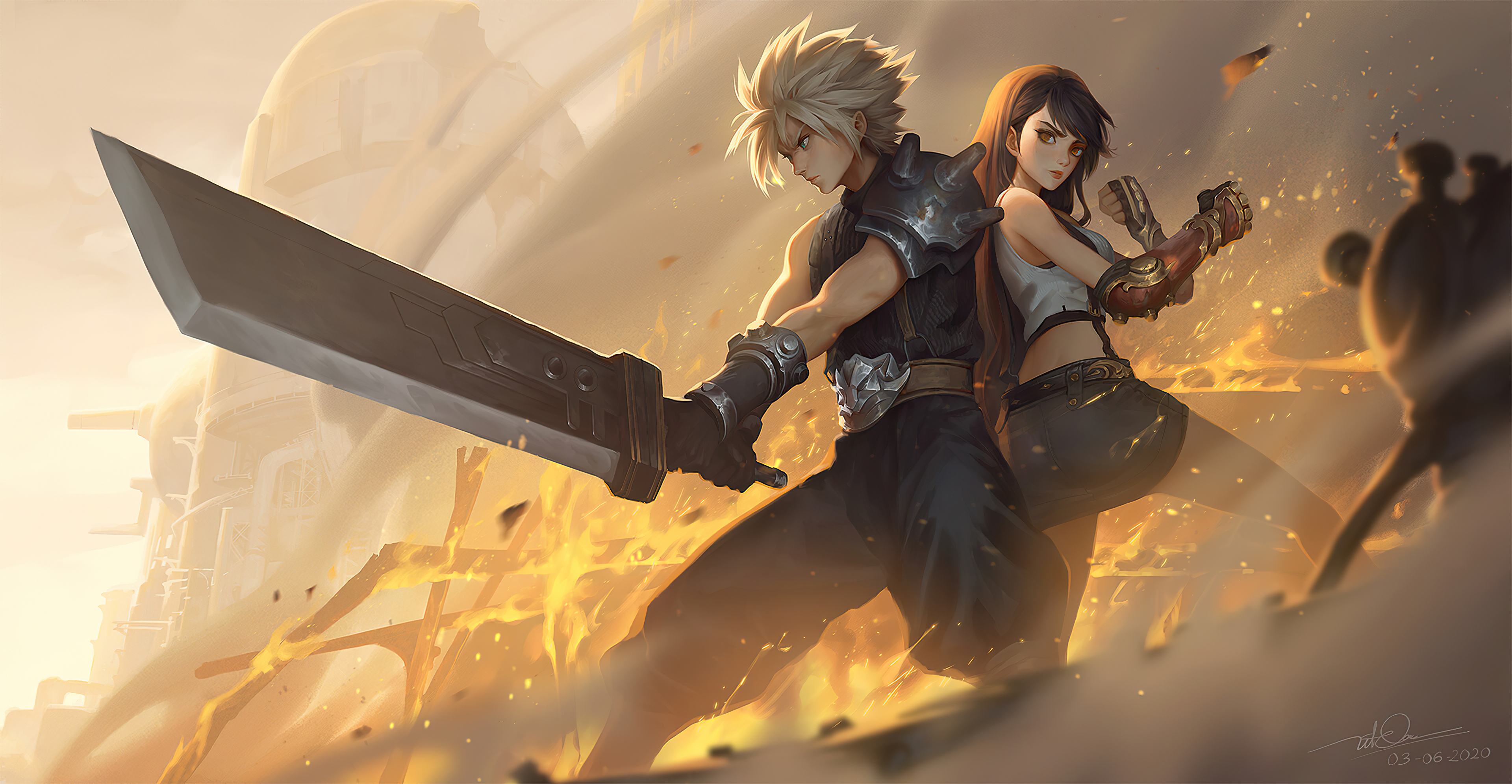 Cloud Strife And Tifa Lockhart 4k Final Fantasy Wallpaper Hd Games 4k Wallpapers Images Photos And Background