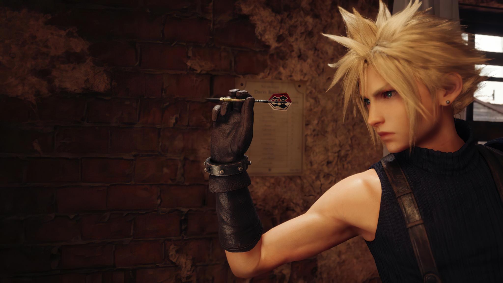 2048x1152 Cloud Strife Final Fantasy 7 Remake 2048x1152