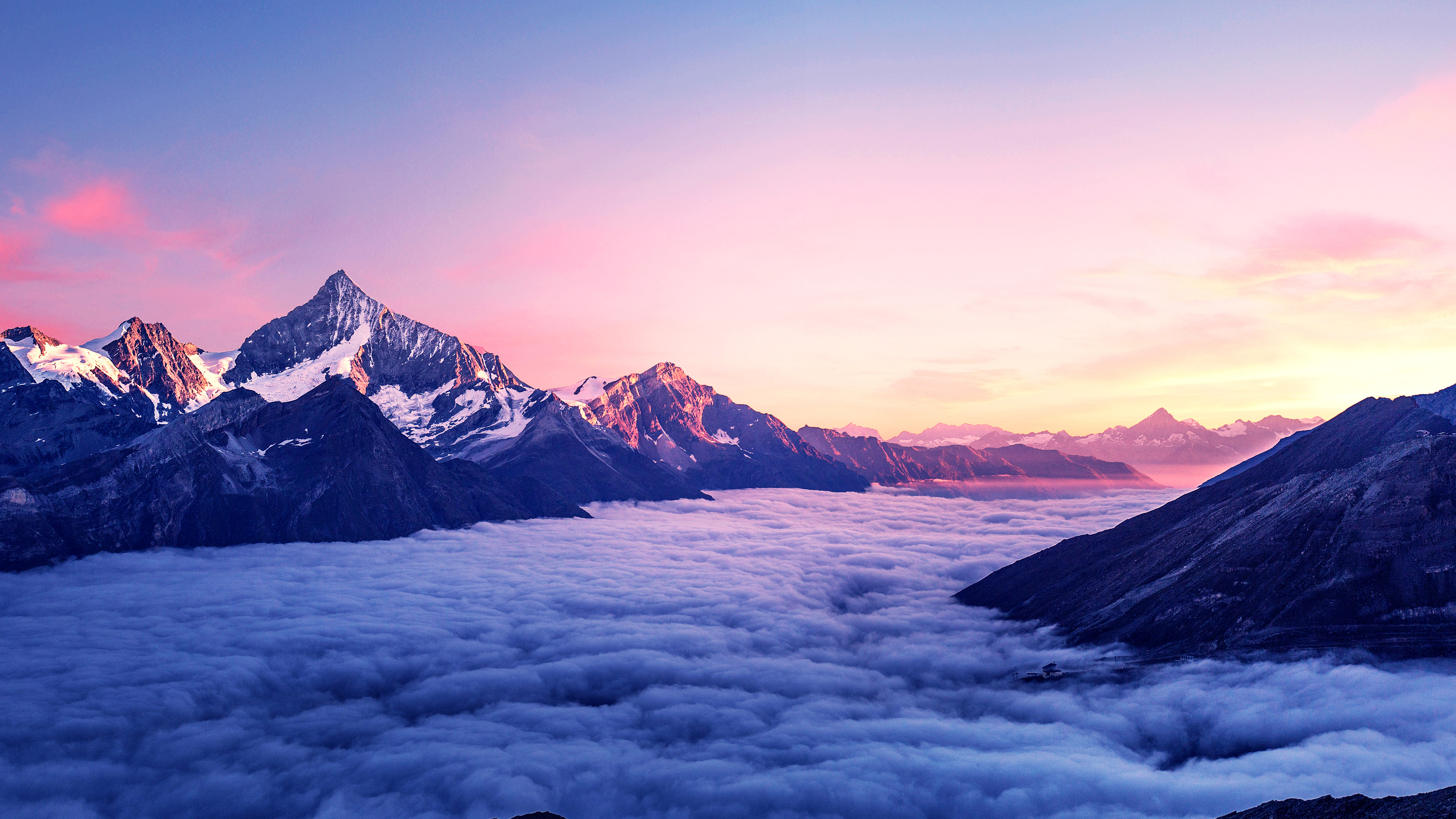 Cloudy Mountains Wallpaper, HD Nature 4K Wallpapers ...