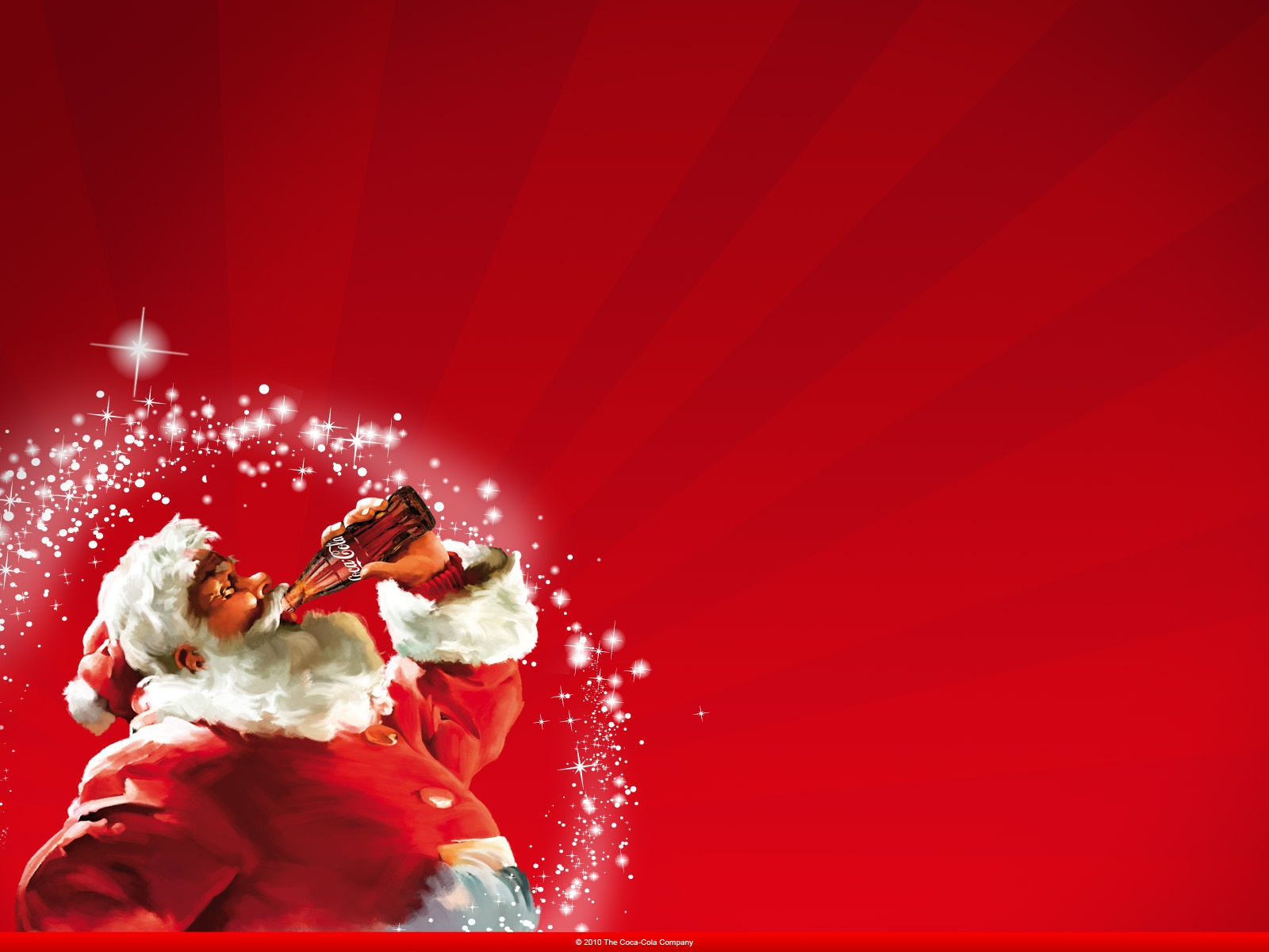 Coca Cola New Year Santa Claus Full HD Wallpaper