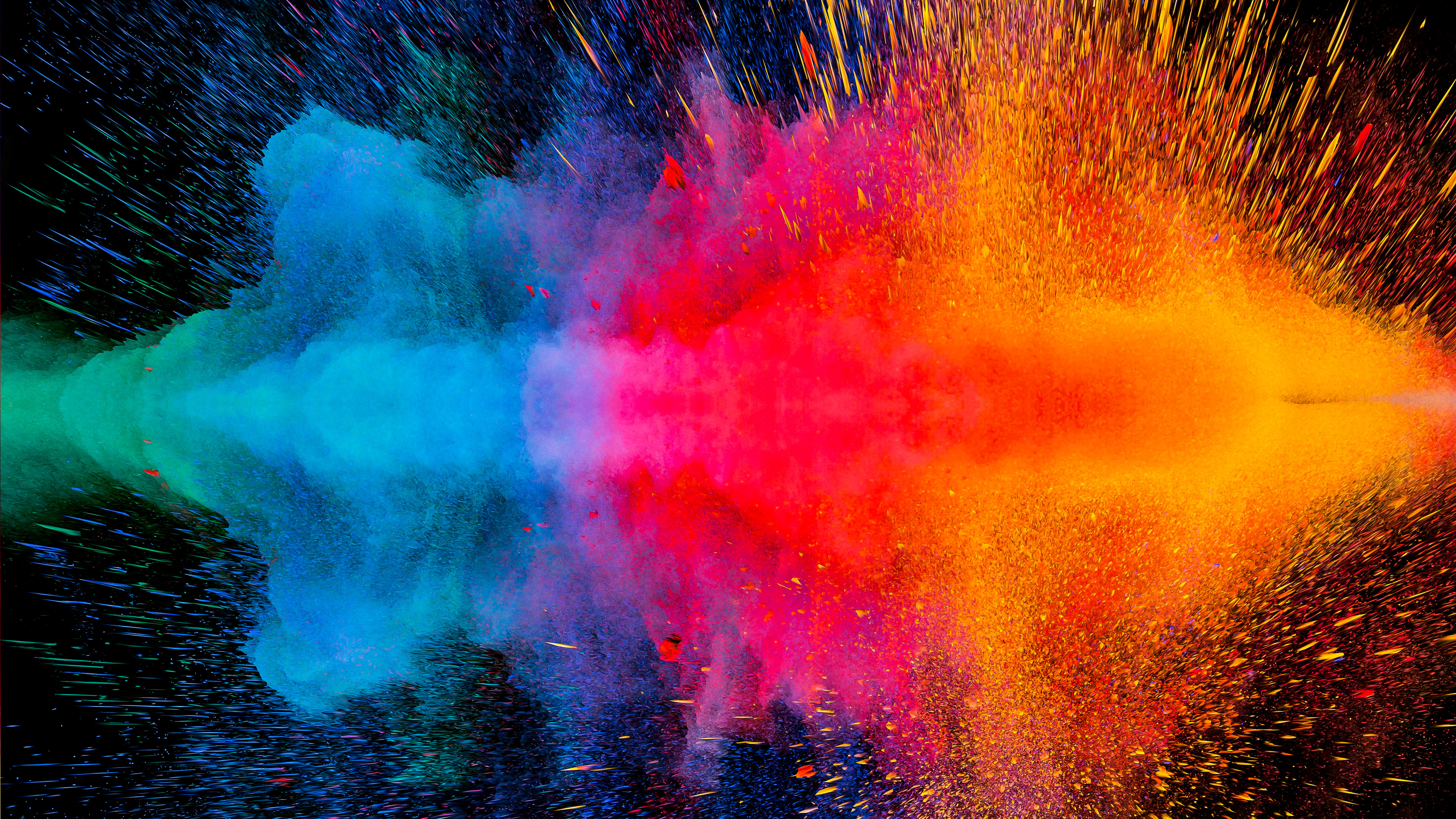 Colorful Dispersion 4K Wallpaper, HD Abstract 4K ...