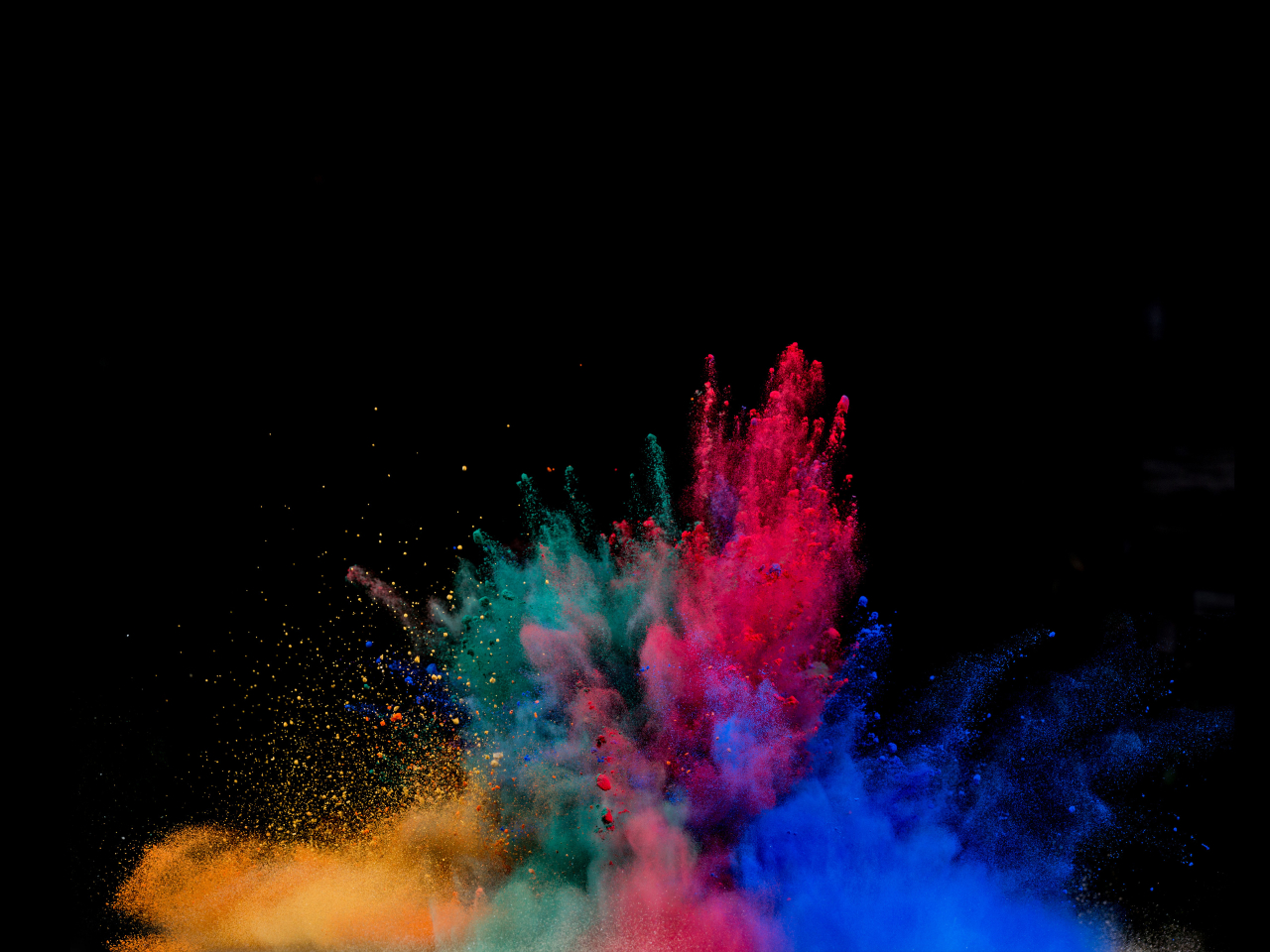 20 Best Samsung Galaxy S7 Edge Hd Wallpapers: Colorful Powder Explosion, HD 4K Wallpaper