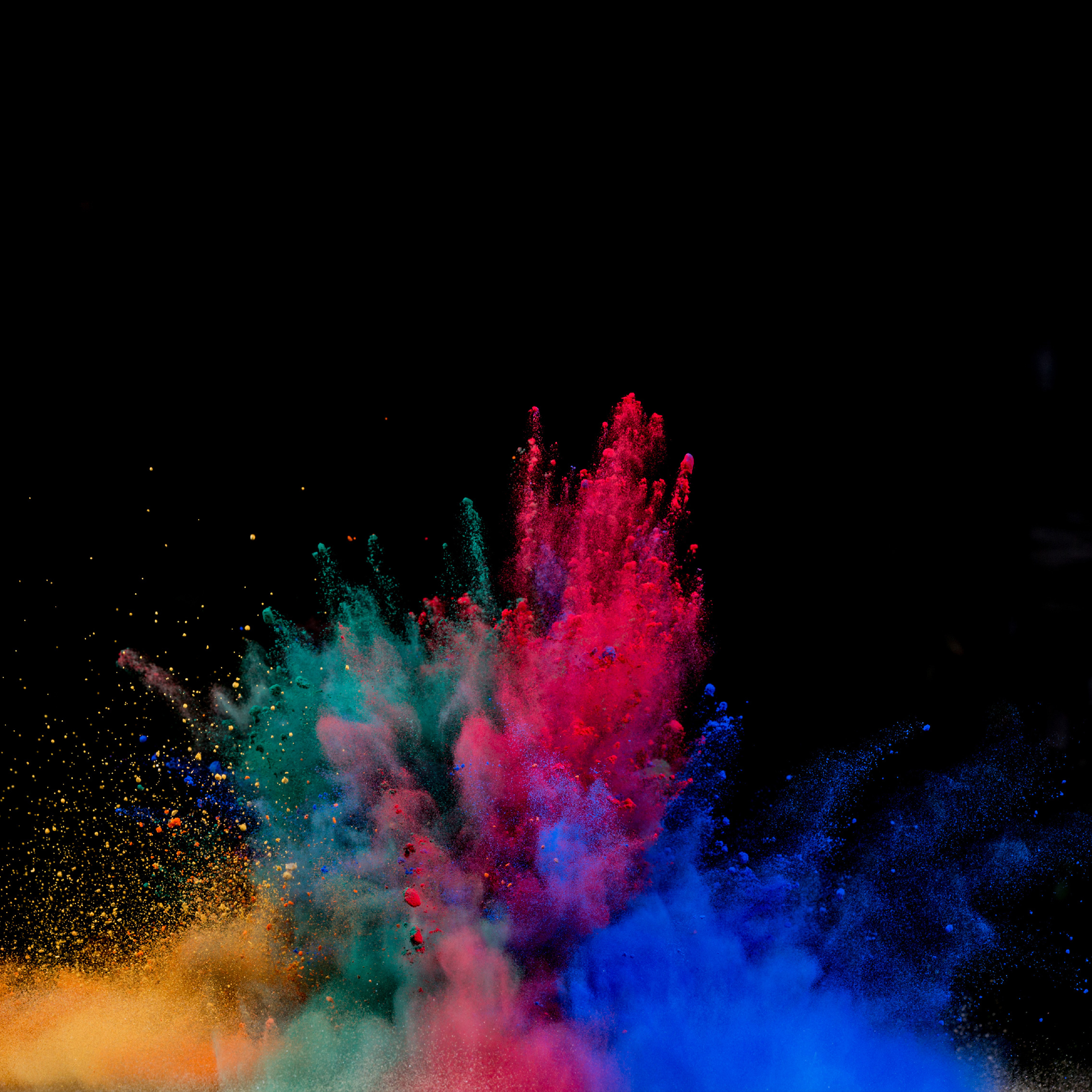 Colorful Powder Explosion, HD 4K Wallpaper