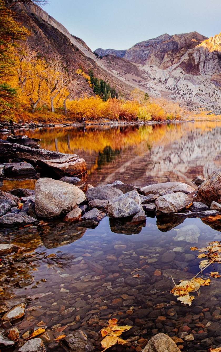 Convict lake autumn hd 4k wallpaper - Background images 4k hd ...