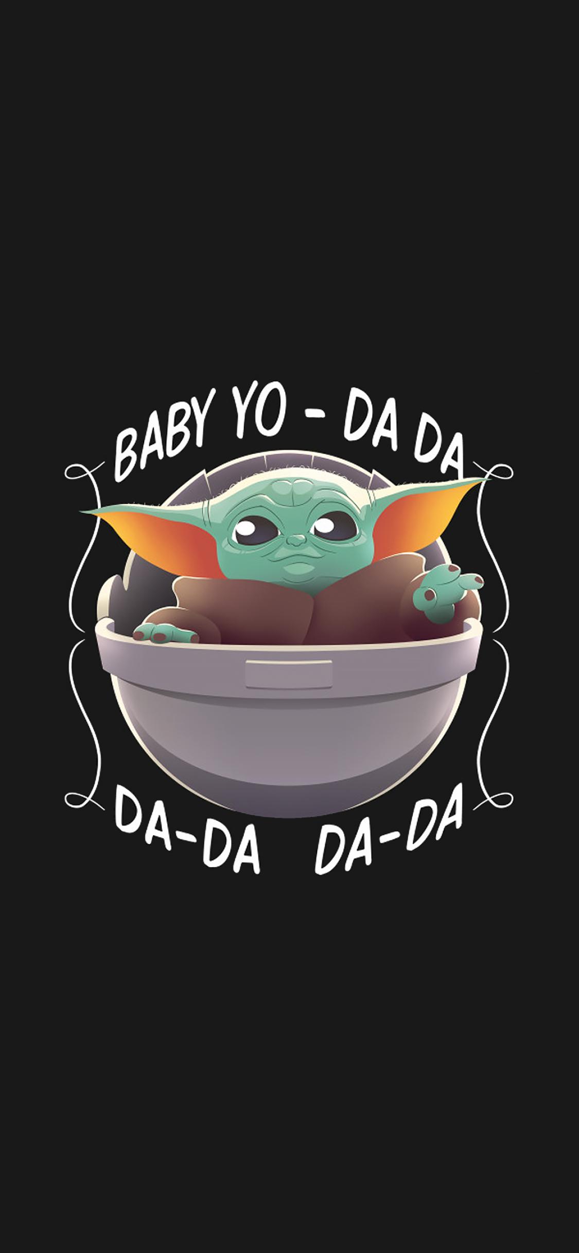 1125x2436 Cool Baby Yoda Minimalist Iphone XS,Iphone 10 ...
