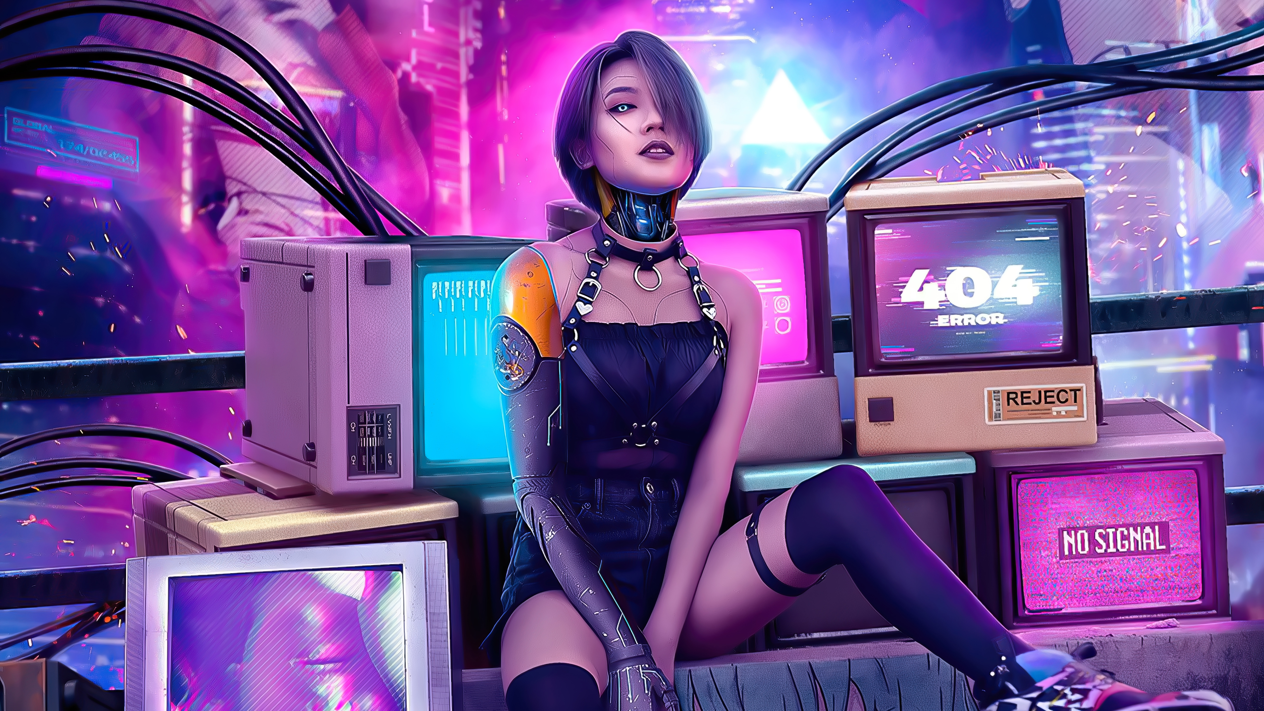 Cool Cyberpunk Cyborg Girl Wallpaper, HD Games 4K ...