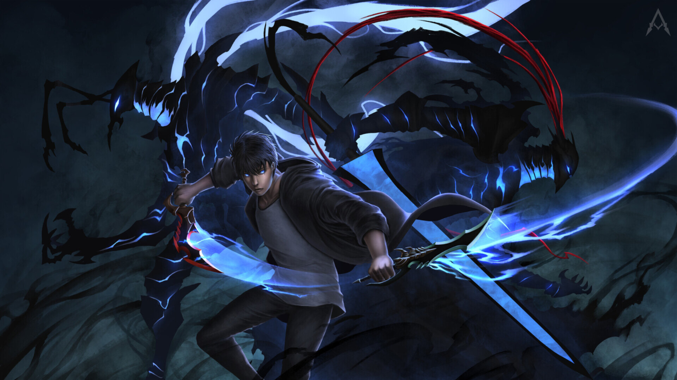 1366x768 Cool Solo Leveling 1366x768 Resolution Wallpaper ...