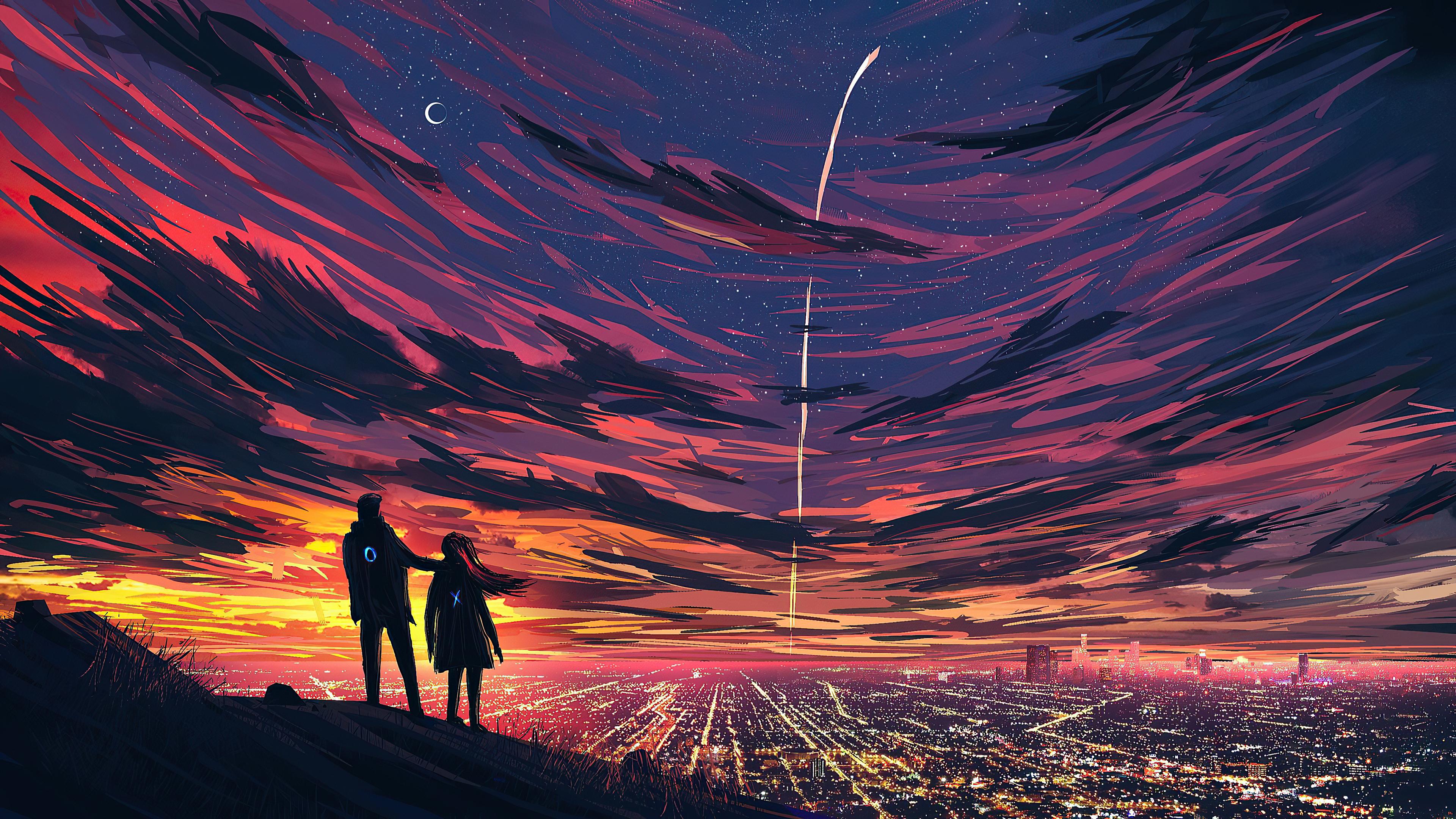 Couple Cityscape 4K Wallpaper, HD Artist 4K Wallpapers ...