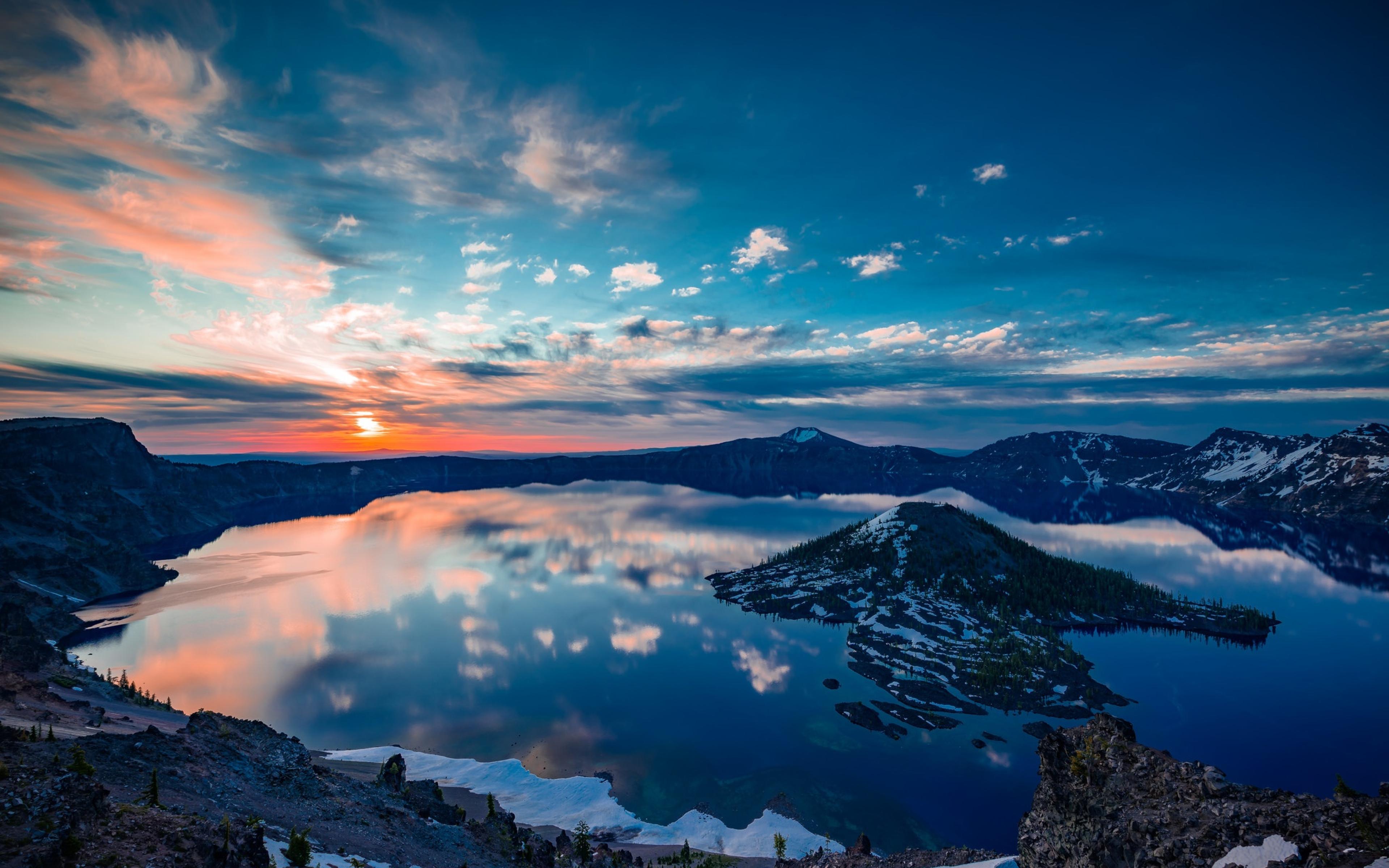 Oregon Wallpapers Hd: Crater Lake Oregon, Full HD 2K Wallpaper