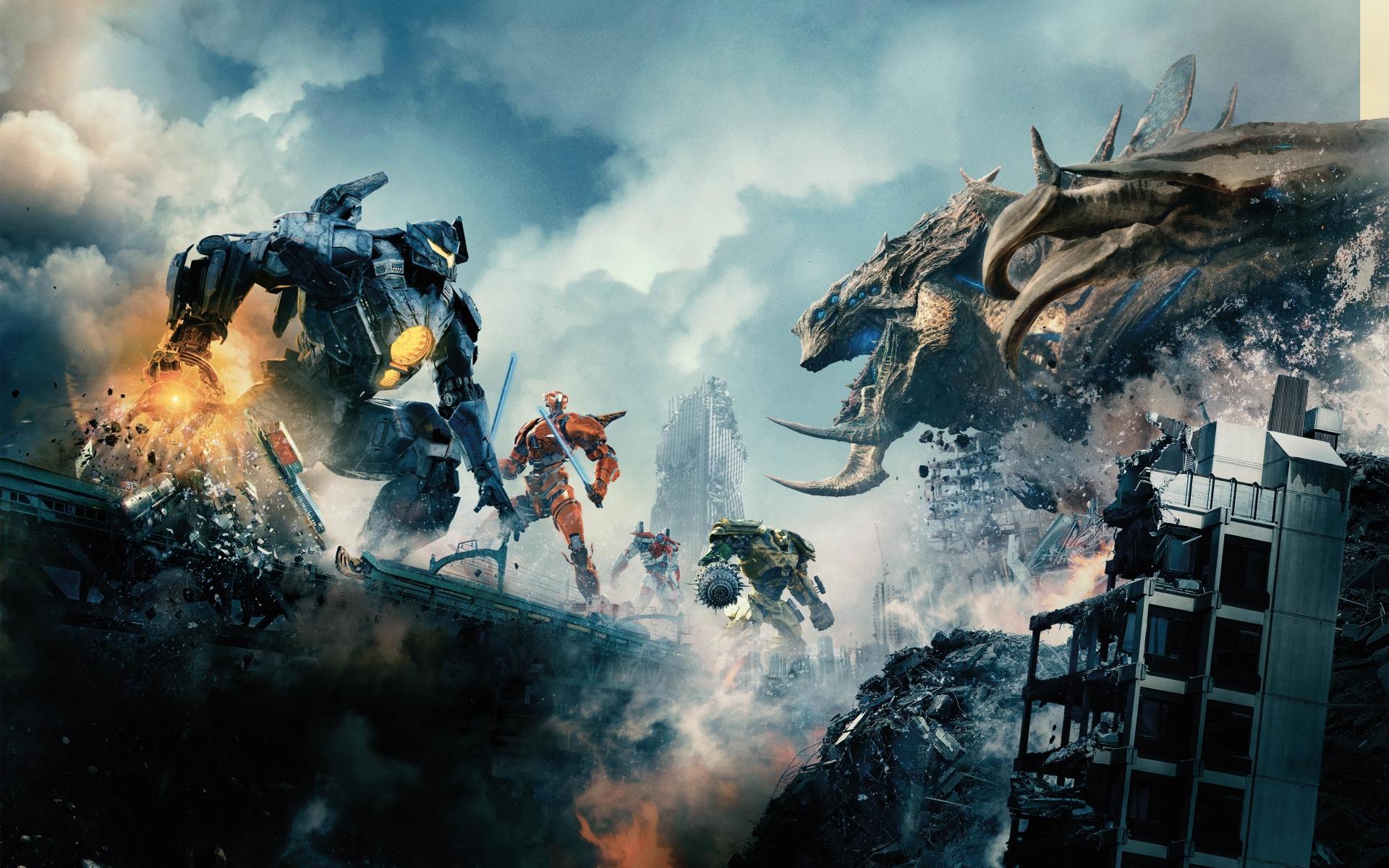 Creature Vs Robots Pacific Rim Uprising  Hd 8k Wallpaper