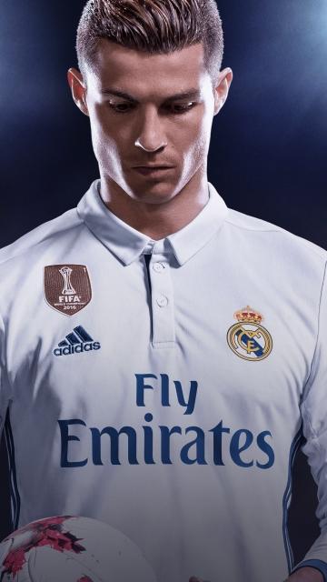 Download Cristiano Ronaldo Fifa 18 Game Poster 360x640 Resolution