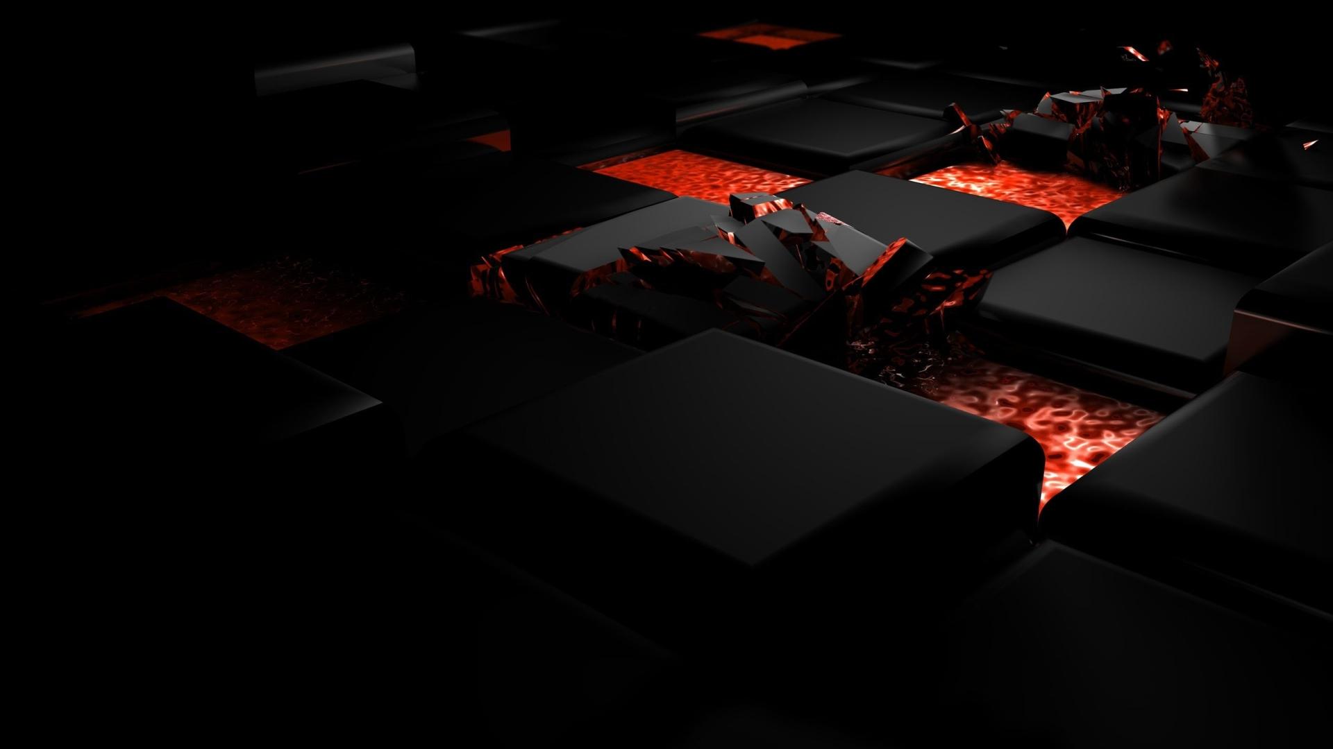 1920x1080 cube, fire, dark 1080P Laptop Full HD Wallpaper ...
