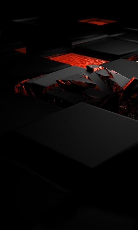 480x800 Cube Fire Dark Galaxy Note Htc Desire Nokia Lumia 520