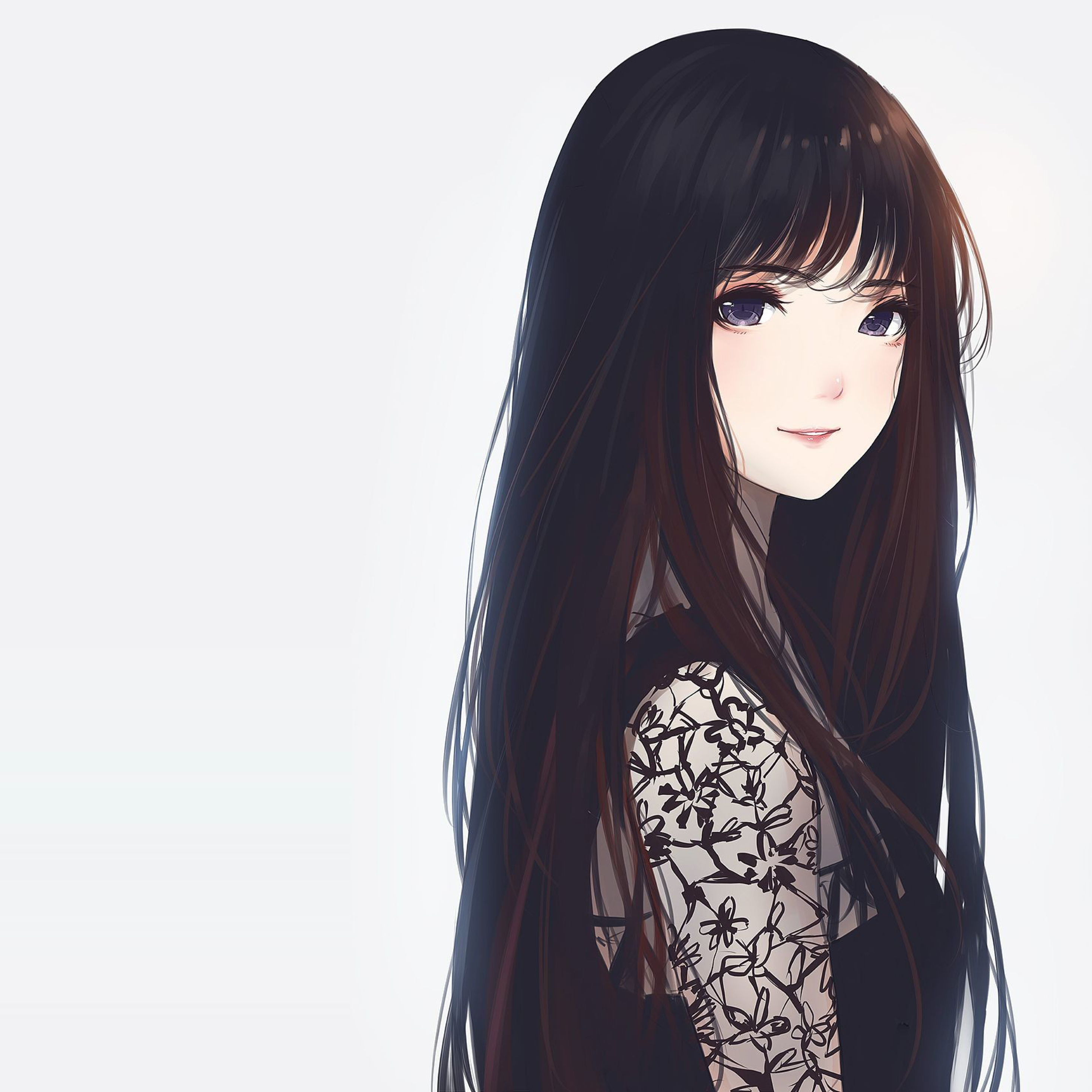 Anime Girl Wallpaper Download: Cute Anime Girl, Full HD 2K Wallpaper