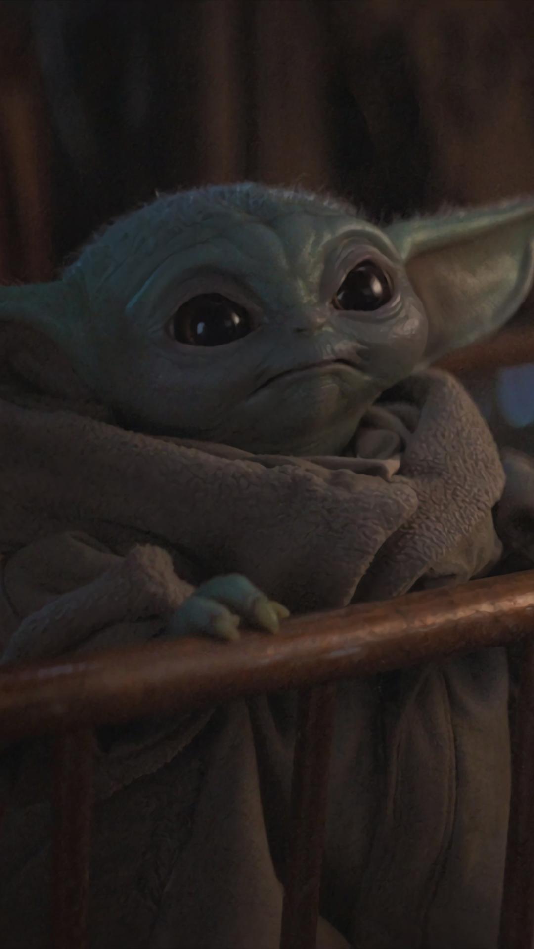 1080x1920 Cute Baby Yoda from Mandalorian Iphone 7, 6s, 6 ...