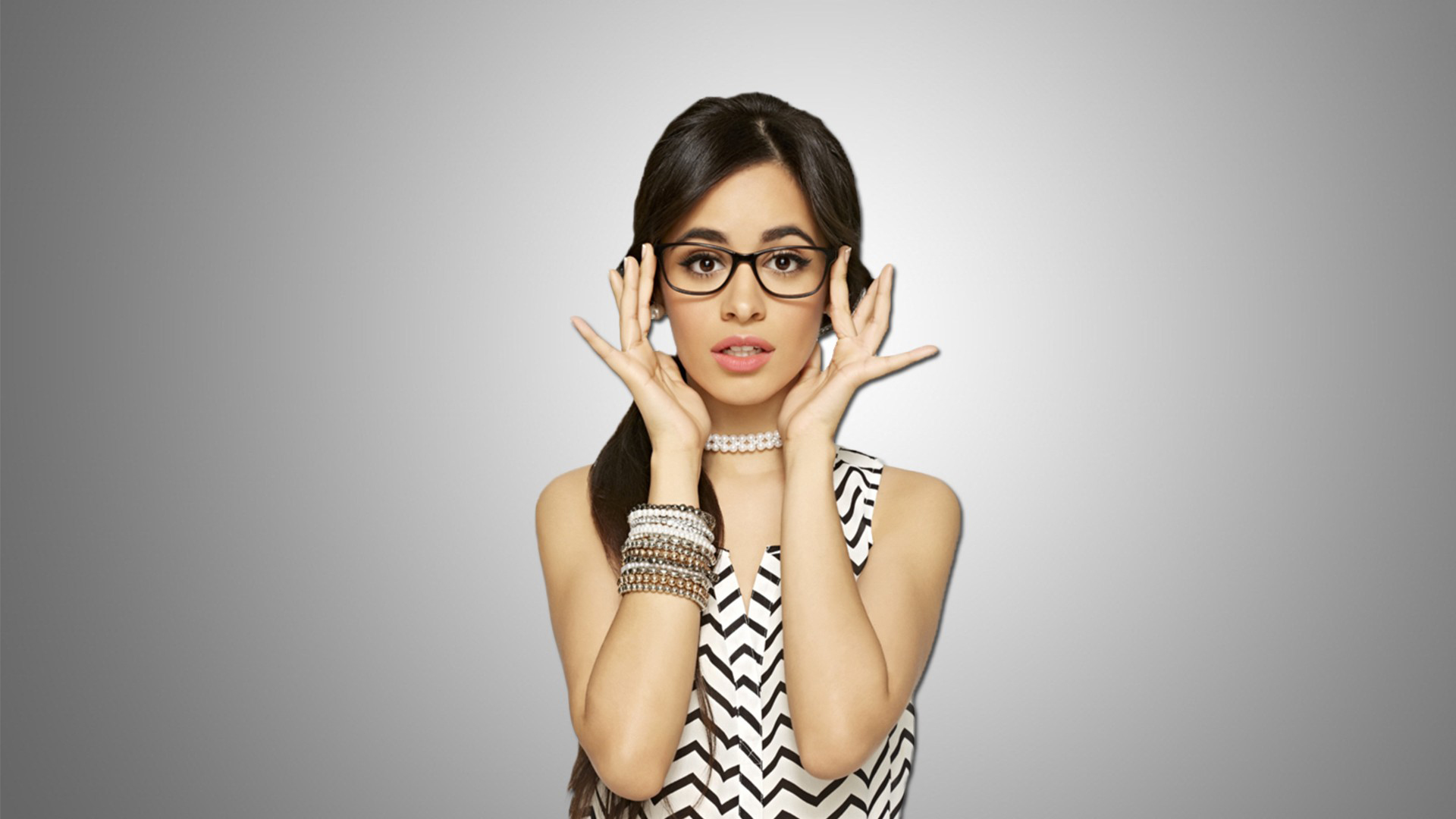 Camila Cabello In Glasses Wallpaper