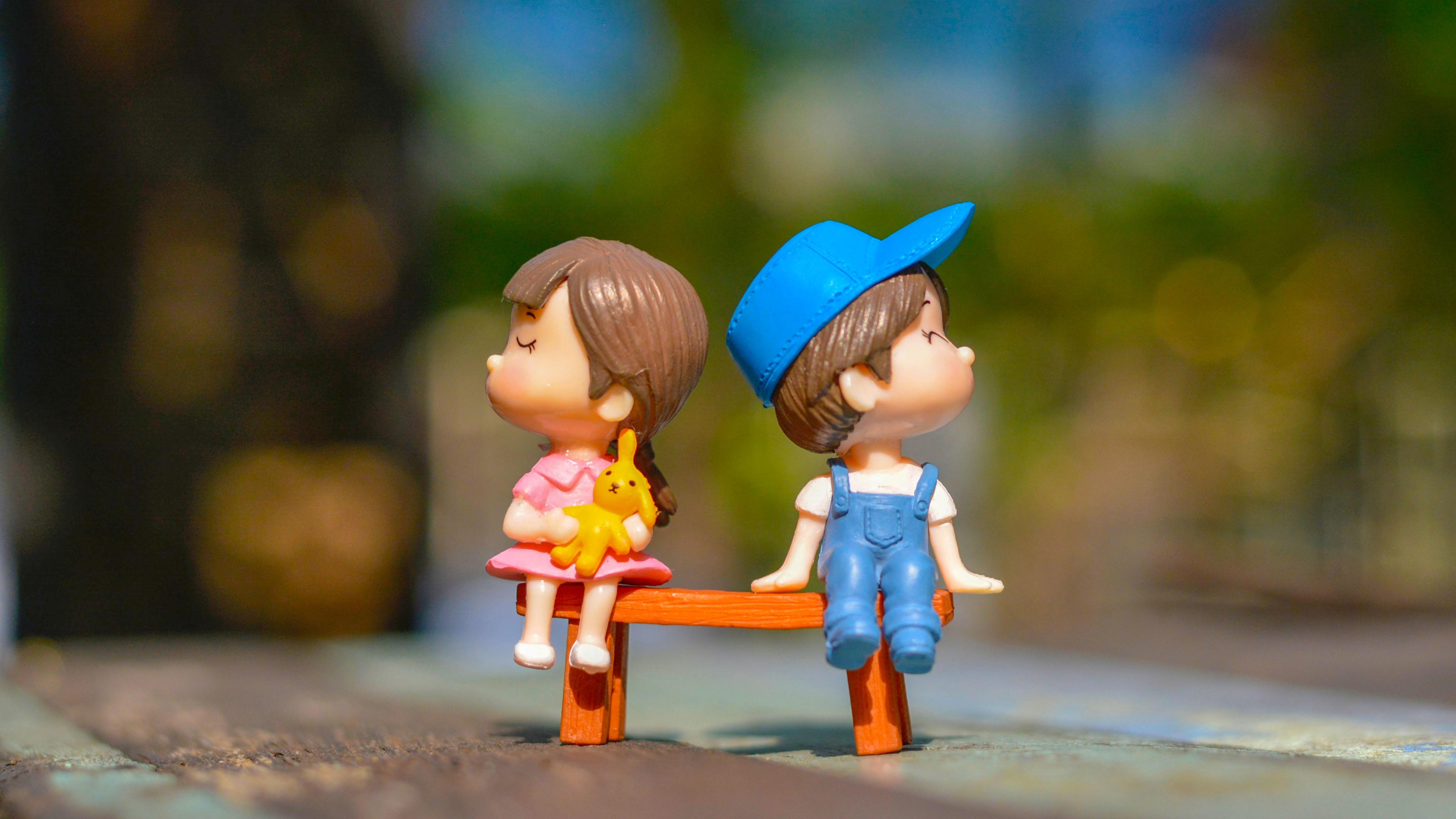 3840x2160 Cute Kid Couple Toy 4k 4k Wallpaper Hd Artist 4k