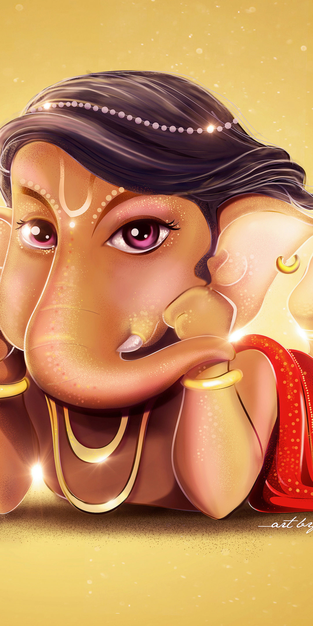 1080x2160 Cute Lord Ganesha One Plus 5t Honor 7x Honor View 10 Lg Q6 Wallpaper Hd Other 4k Wallpapers Images Photos And Background