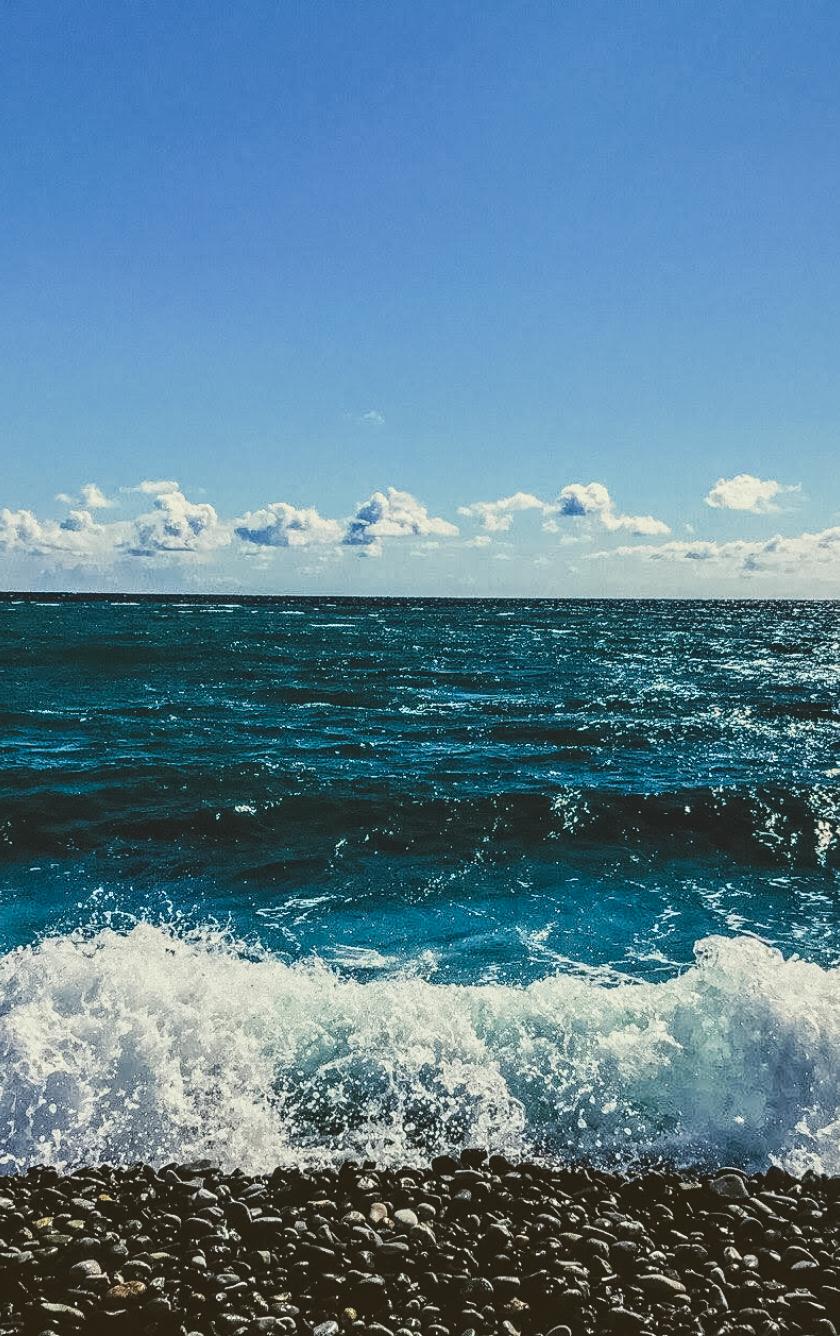 Cyan Sea Ocean, Full HD 2K Wallpaper