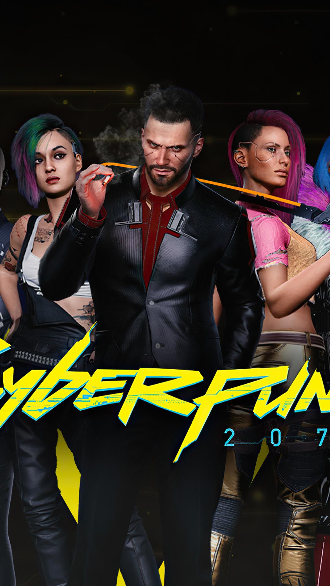 1080x1920 Cyberpunk 2077 4k Characters Iphone 7, 6s, 6 ...
